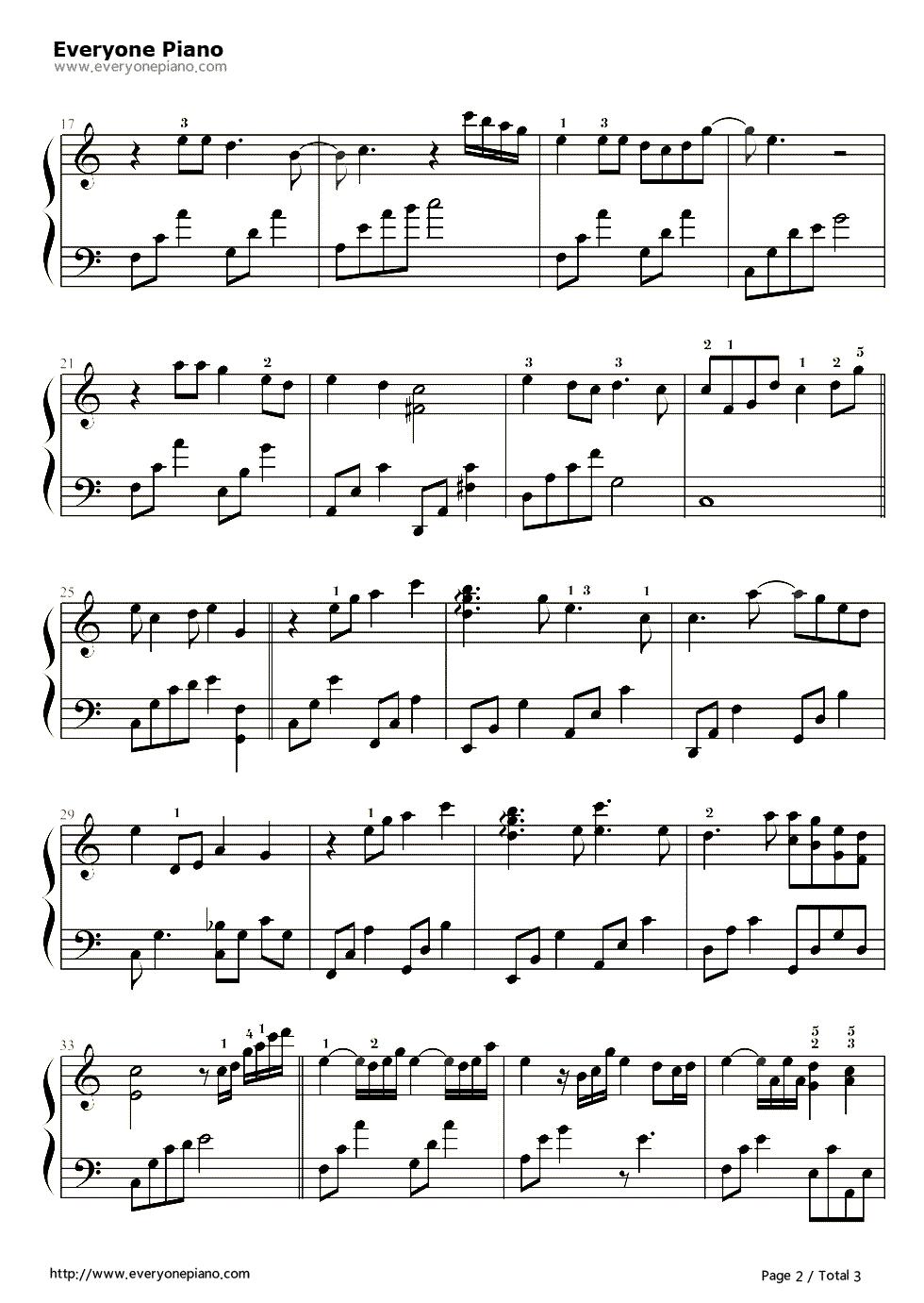 《时间煮雨》(郁可唯演唱)钢琴谱第2张