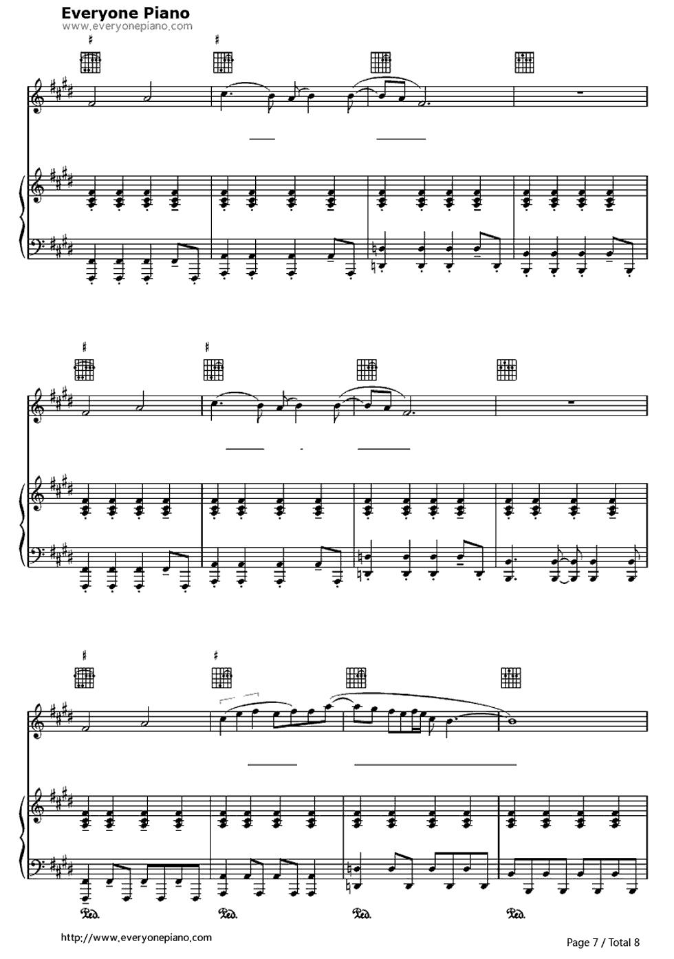 letitgo曲谱