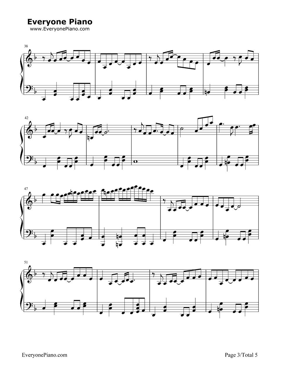 甄演唱) - 钢琴谱