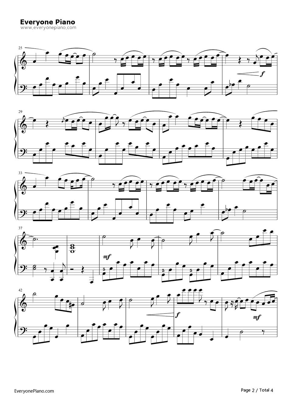 《可惜没如果》(林俊杰演唱)钢琴谱第2张