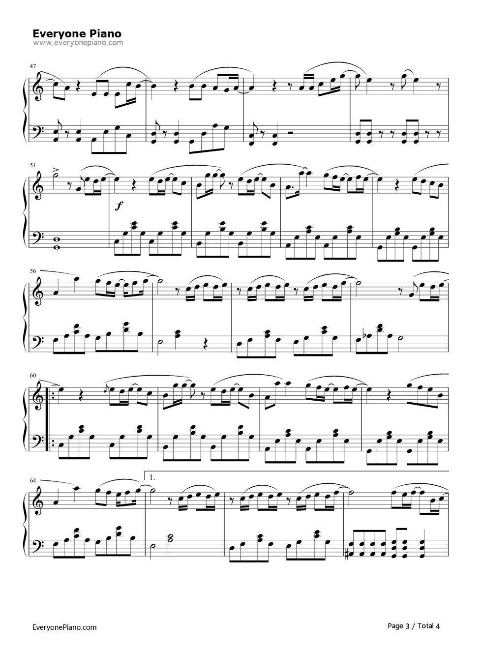 《可惜没如果》(林俊杰演唱)钢琴谱第3张