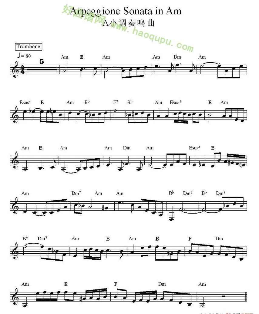 A小调奏鸣曲 电子琴简谱