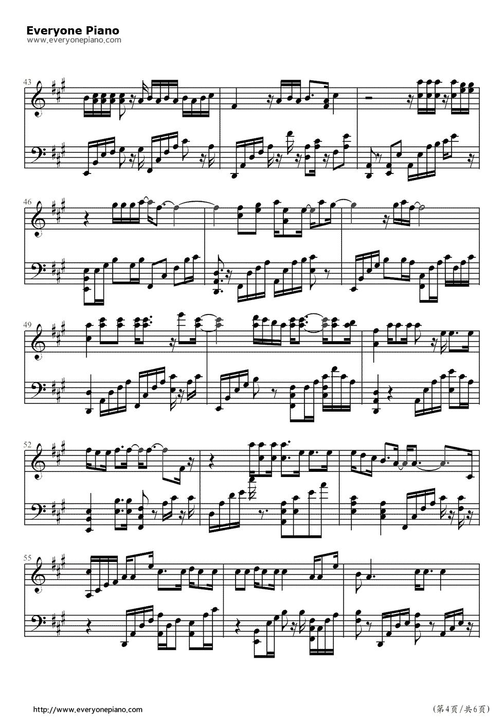 Someone Like You Adele专辑 21 钢琴谱 钢琴曲谱 钢琴歌谱