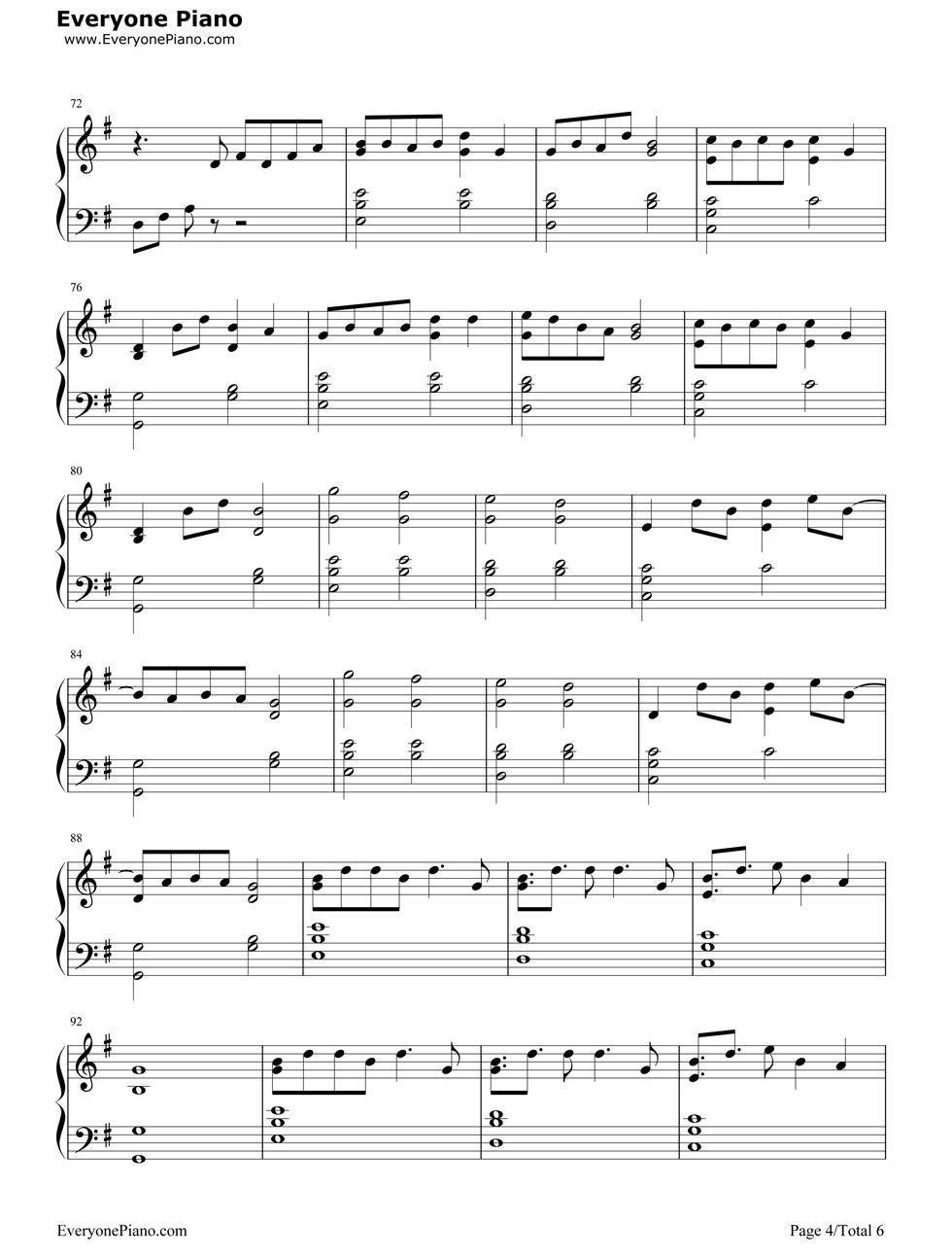 say forever钢琴谱