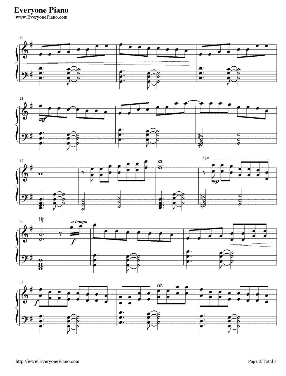 bellas lullaby piano sheet music pdf