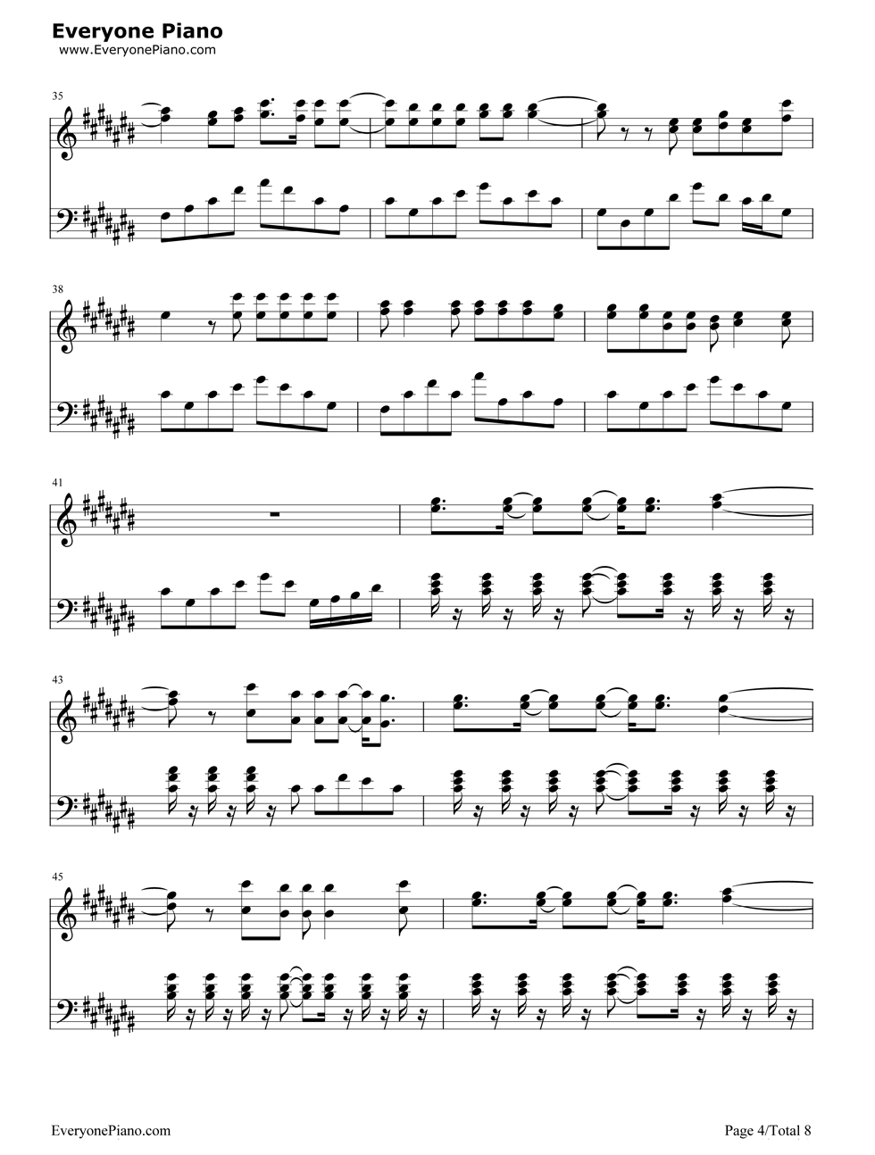 Try Everything 疯狂动物城主题曲 钢琴谱