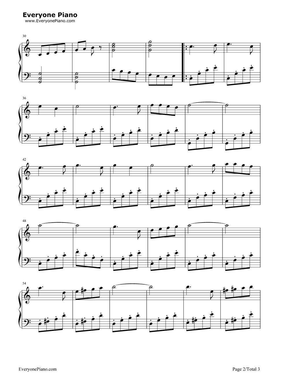 《哆来咪》(音乐之声插曲)钢琴谱第2张