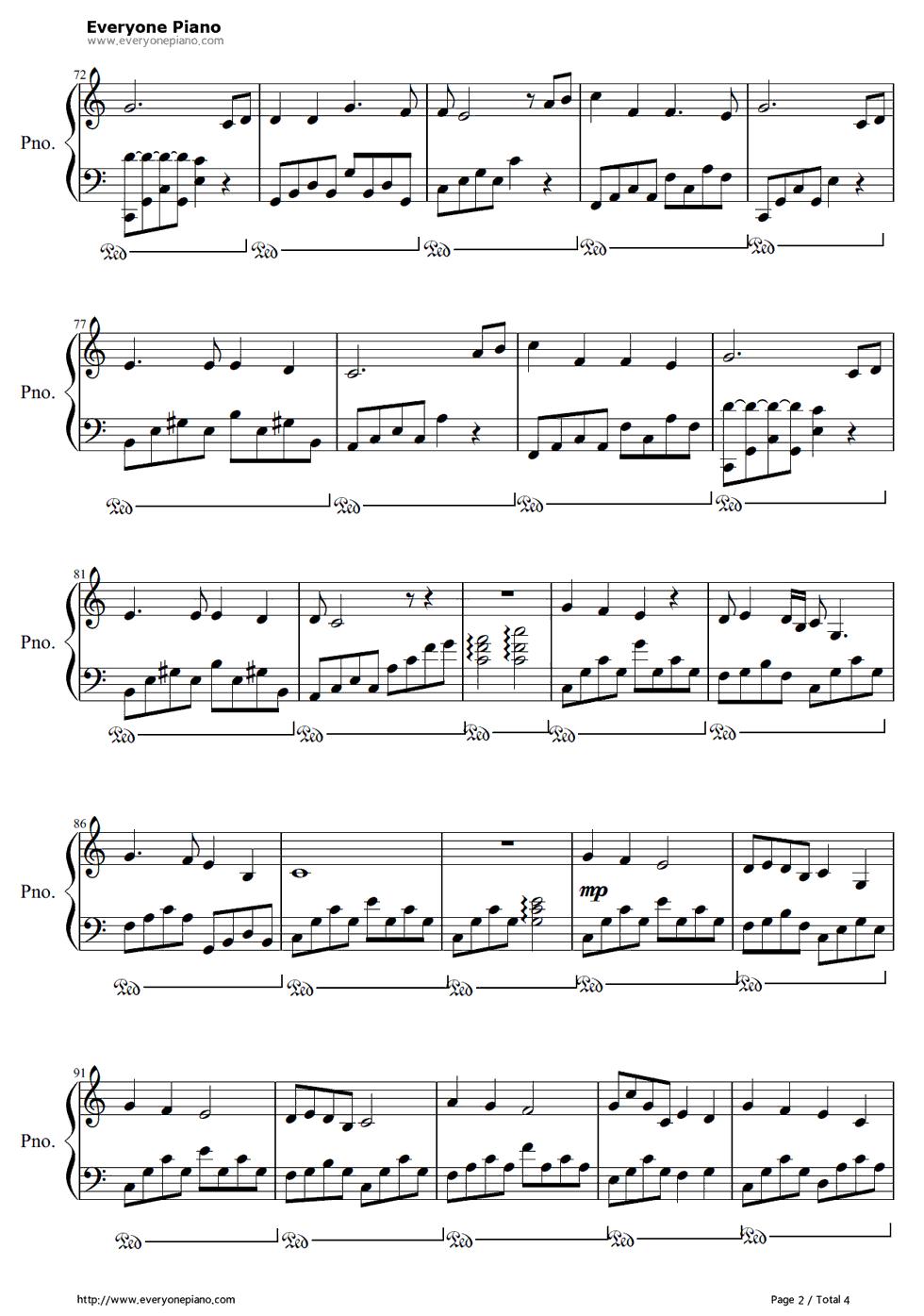 《I See the Light》(魔发奇缘主题曲)钢琴谱第2张
