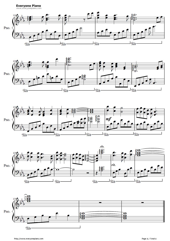 《I See the Light》(魔发奇缘主题曲)钢琴谱第4张