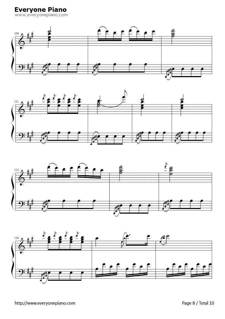 《土耳其进行曲》 钢琴谱