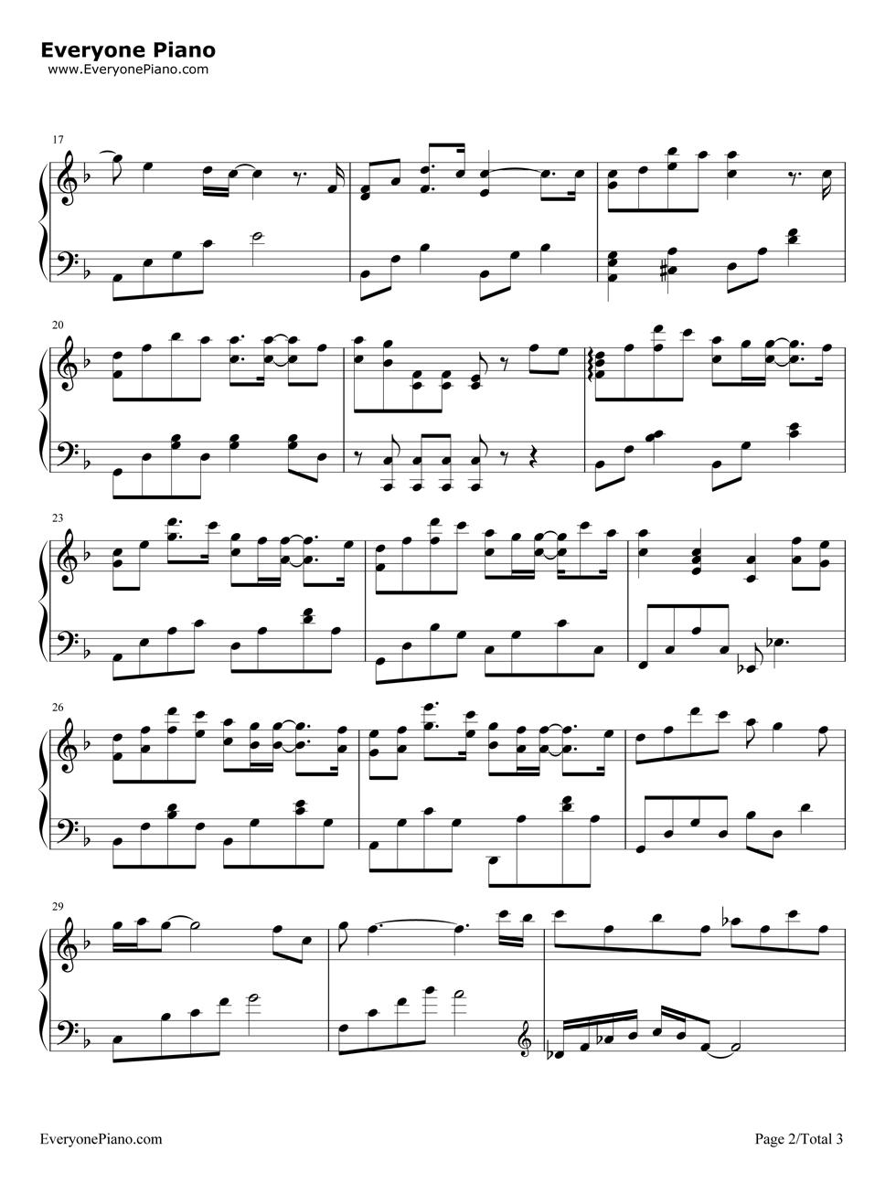 《说不出口》(欢乐颂插曲) - 钢琴谱_钢琴曲谱_钢琴