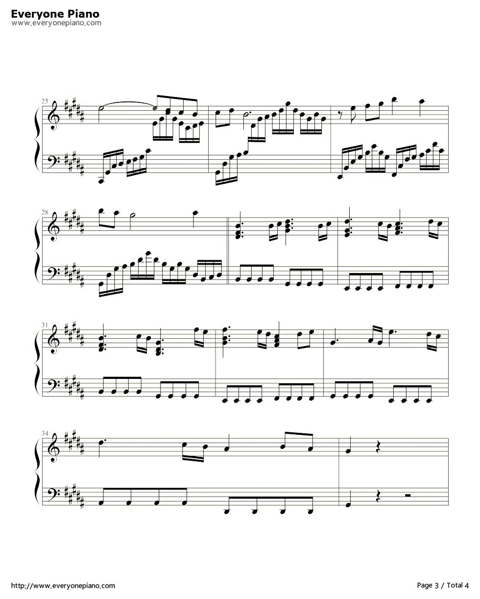 《亡灵序曲》(the dawn)钢琴谱