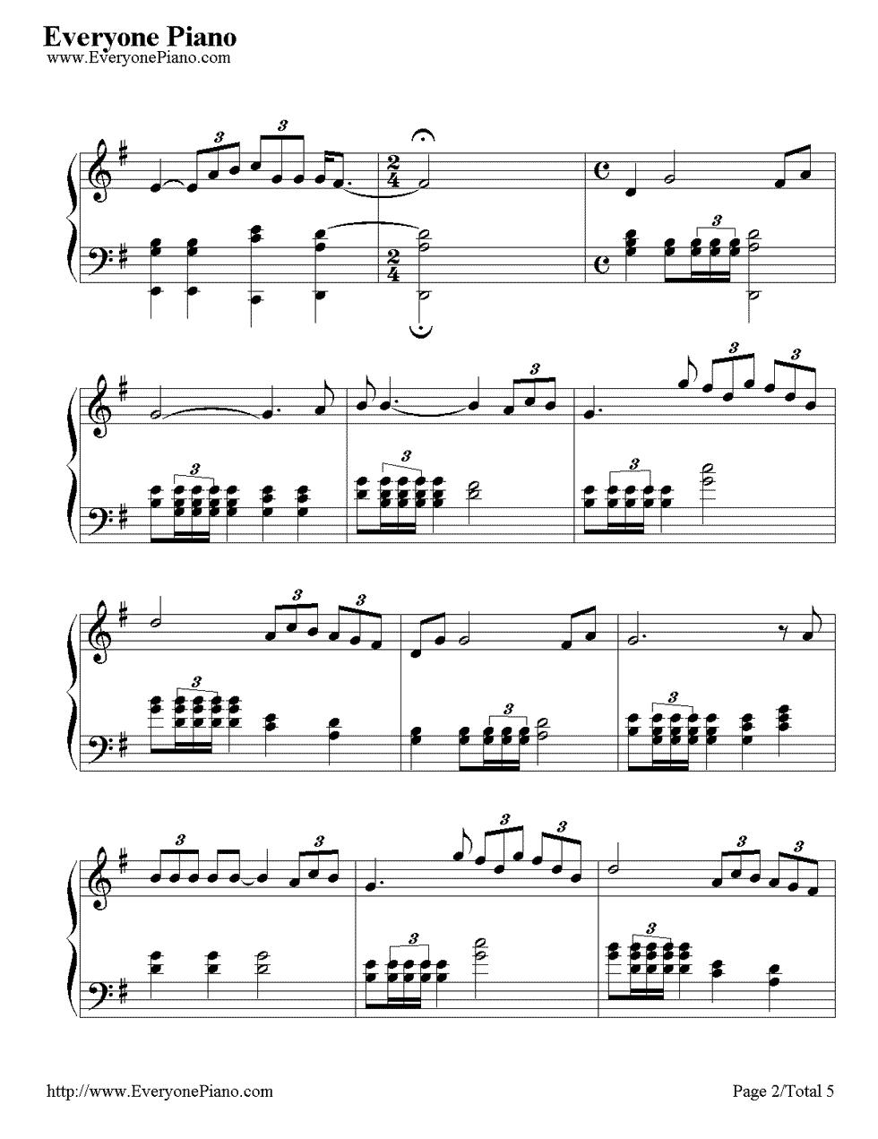 《Time to Say Goodbye》(告别的时刻)钢琴谱第2张