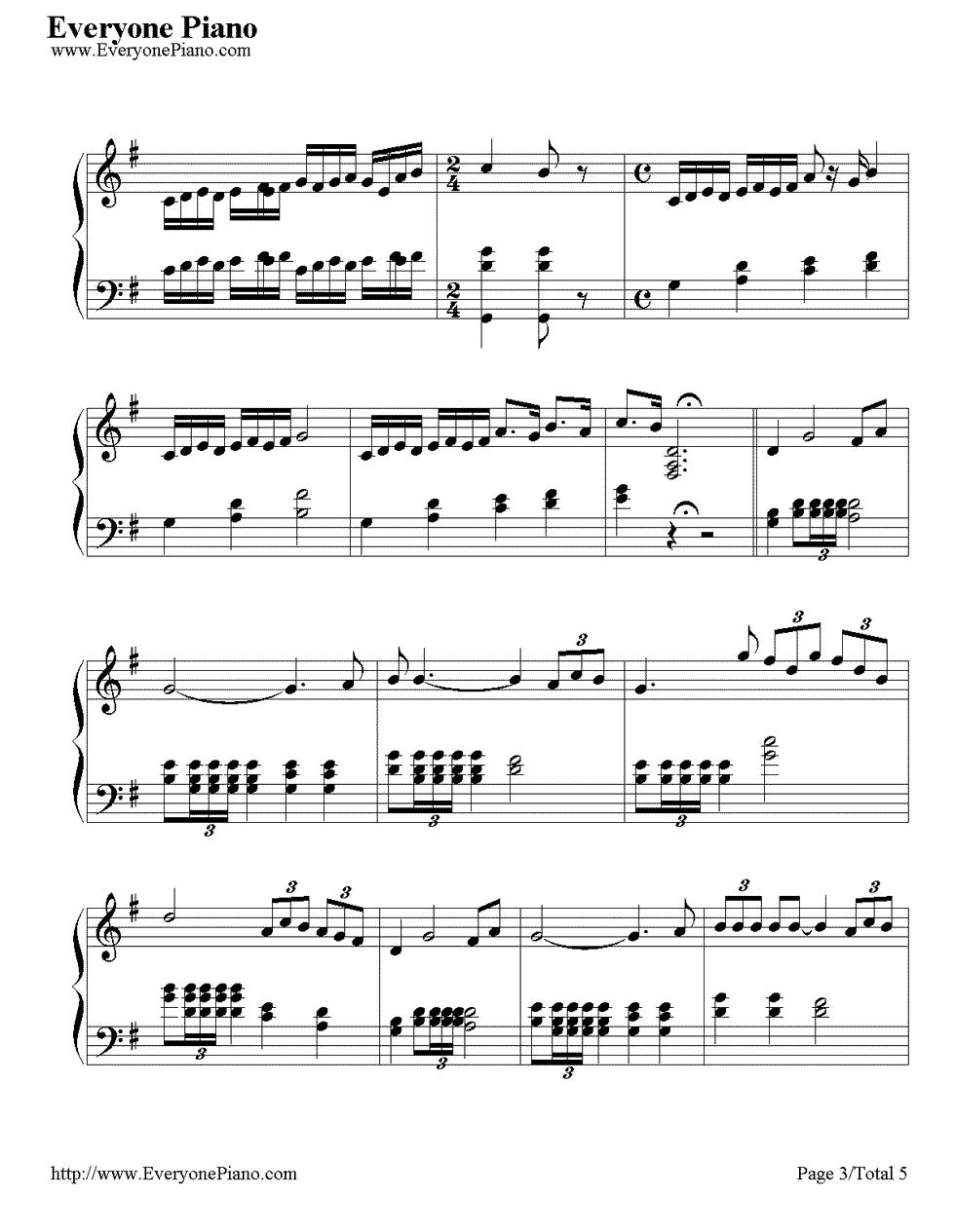 《Time to Say Goodbye》(告别的时刻)钢琴谱第3张