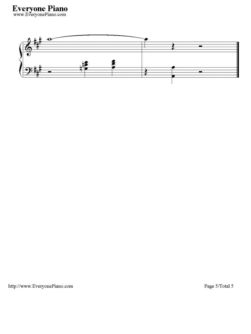 《Time to Say Goodbye》(告别的时刻)钢琴谱第5张