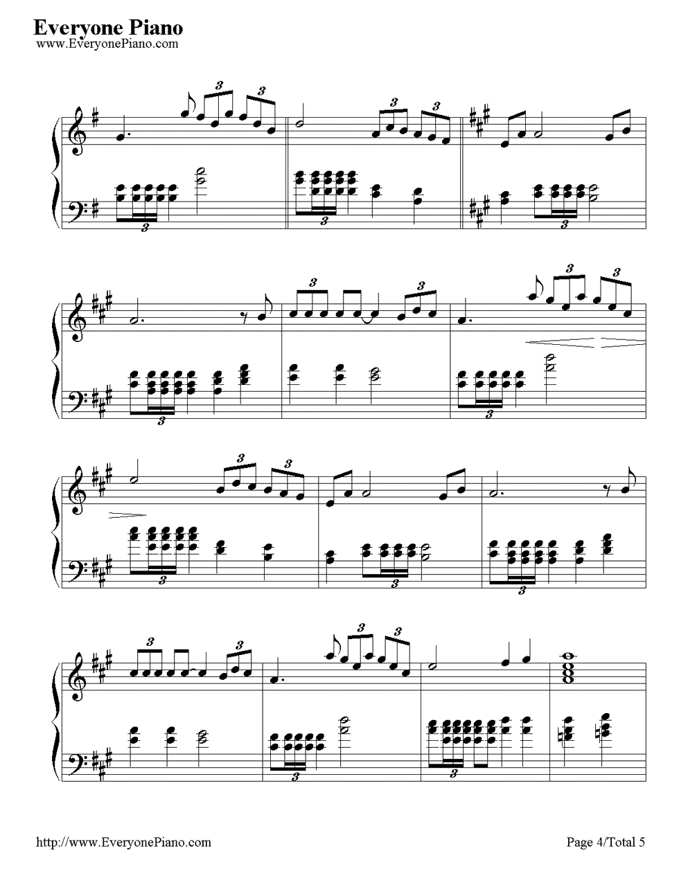 《Time to Say Goodbye》(告别的时刻)钢琴谱第4张