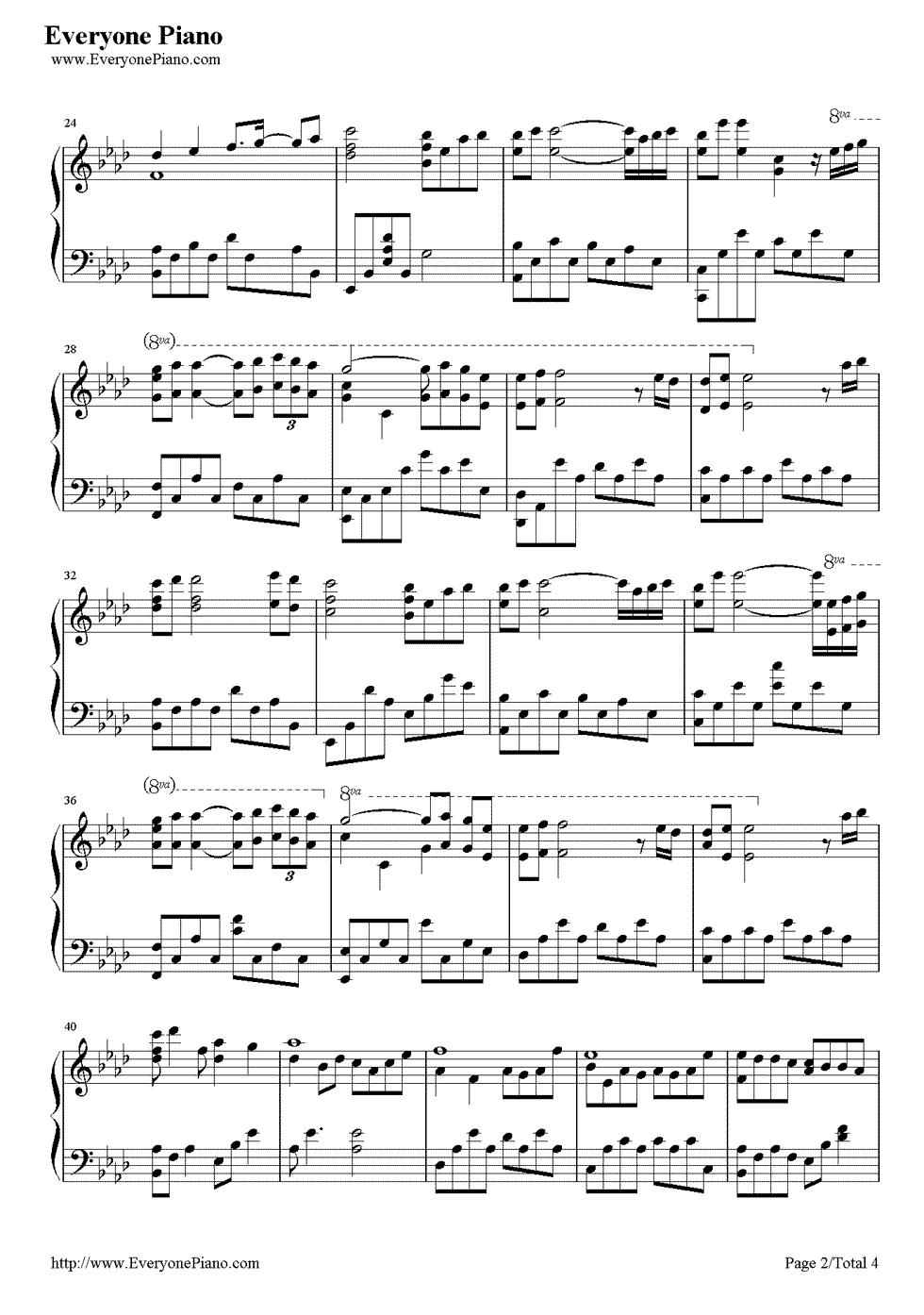 《Kiss The Rain》(李闰珉演唱)钢琴谱第2张