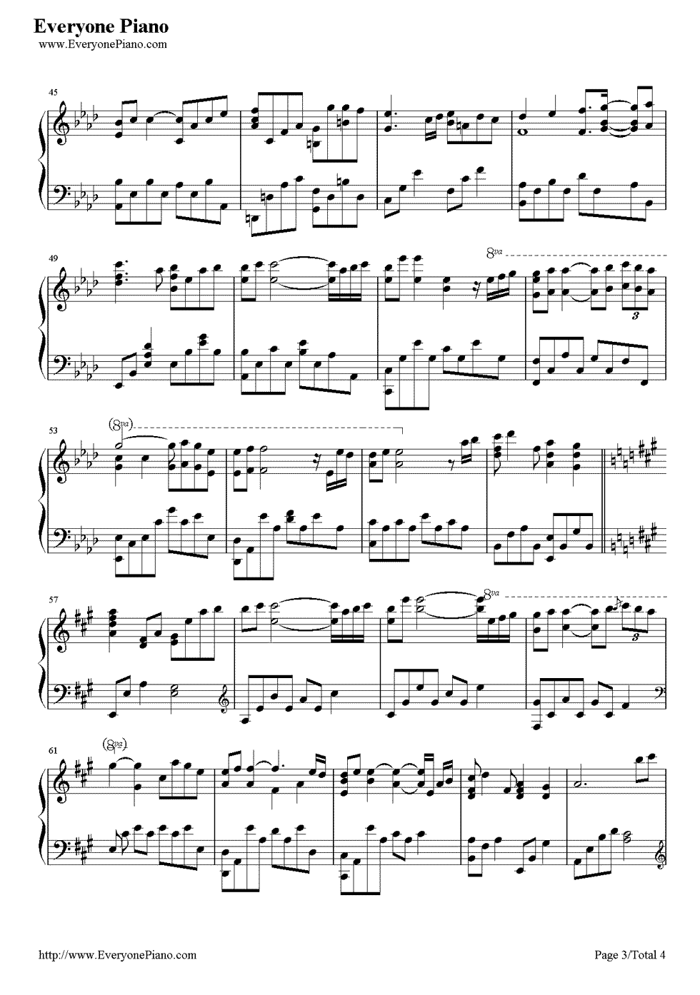 《Kiss The Rain》(李闰珉演唱)钢琴谱第3张