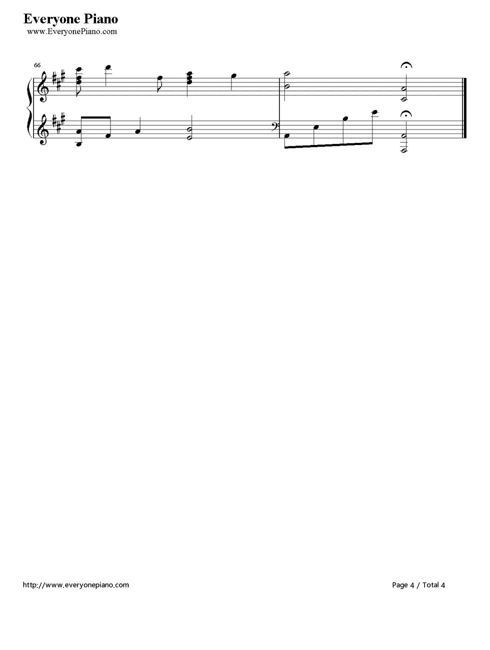 《Kiss The Rain》(李闰珉演唱)钢琴谱第4张