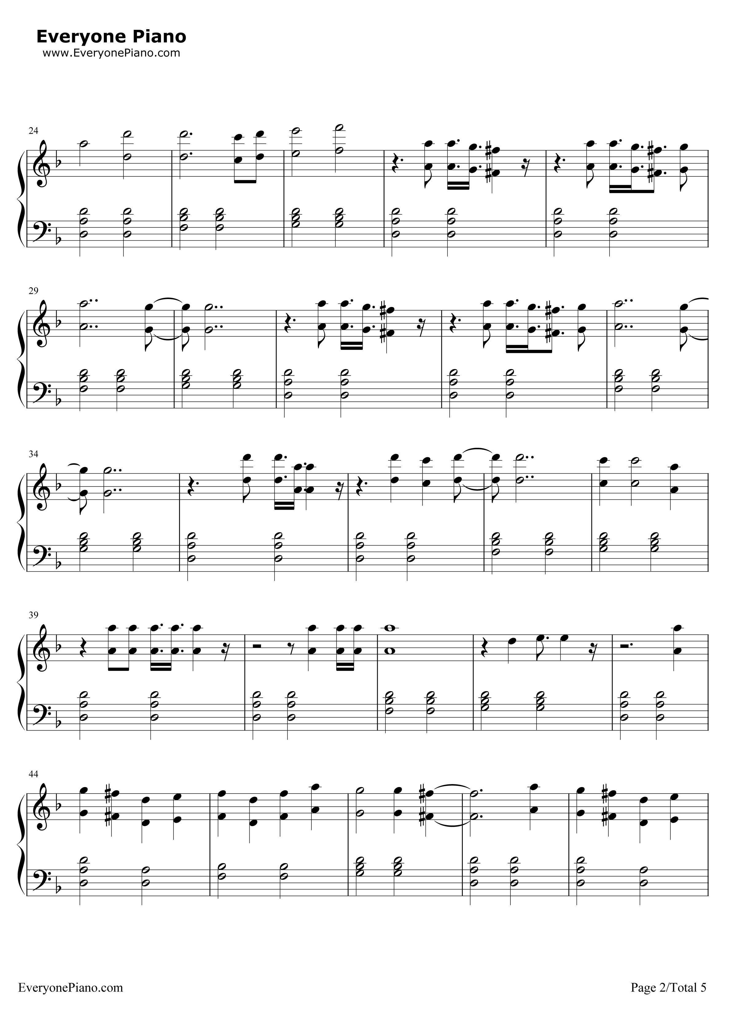 《Sledgehammer》(星际迷航3主题曲)钢琴谱第2张