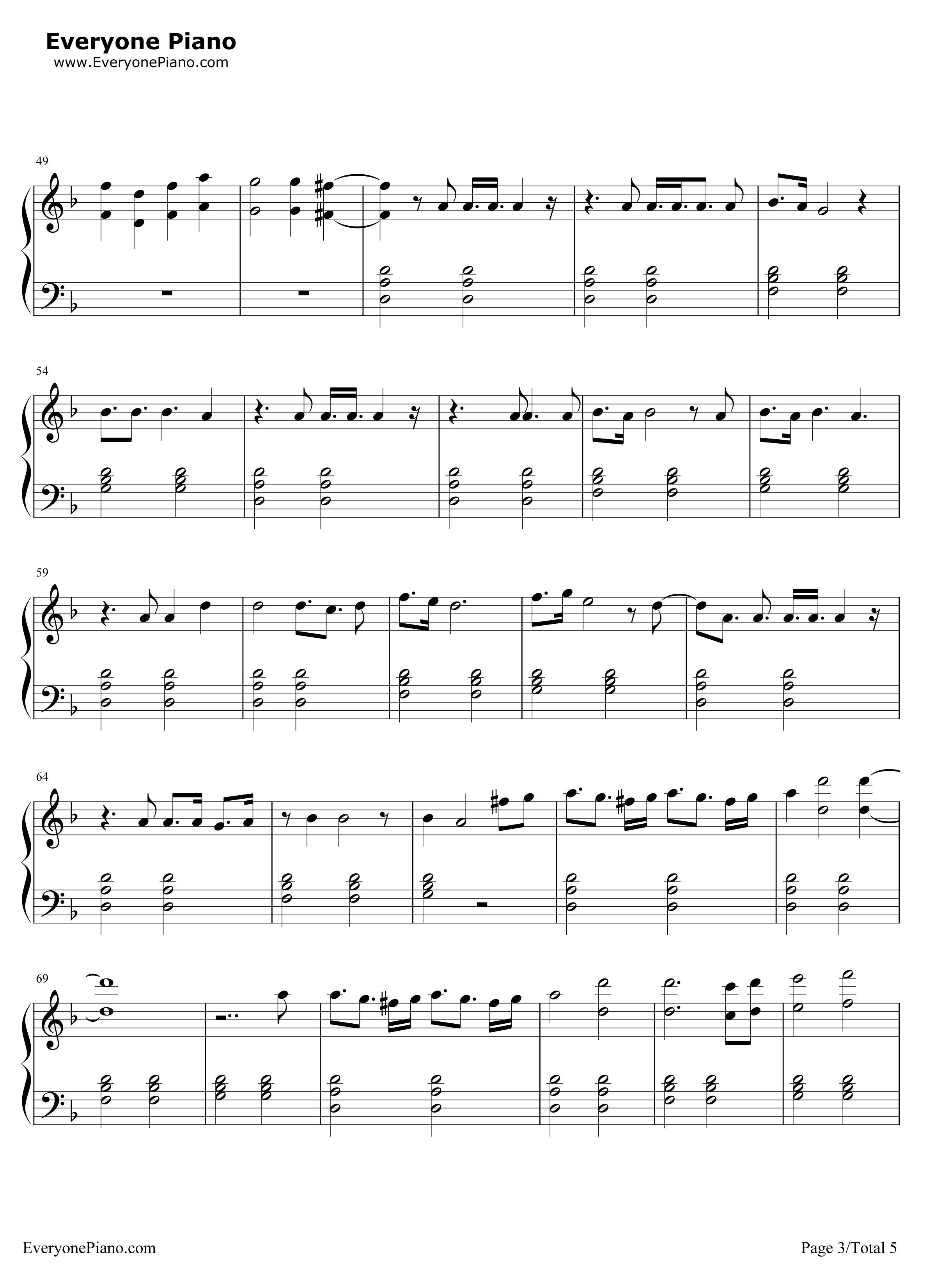 《Sledgehammer》(星际迷航3主题曲)钢琴谱第3张