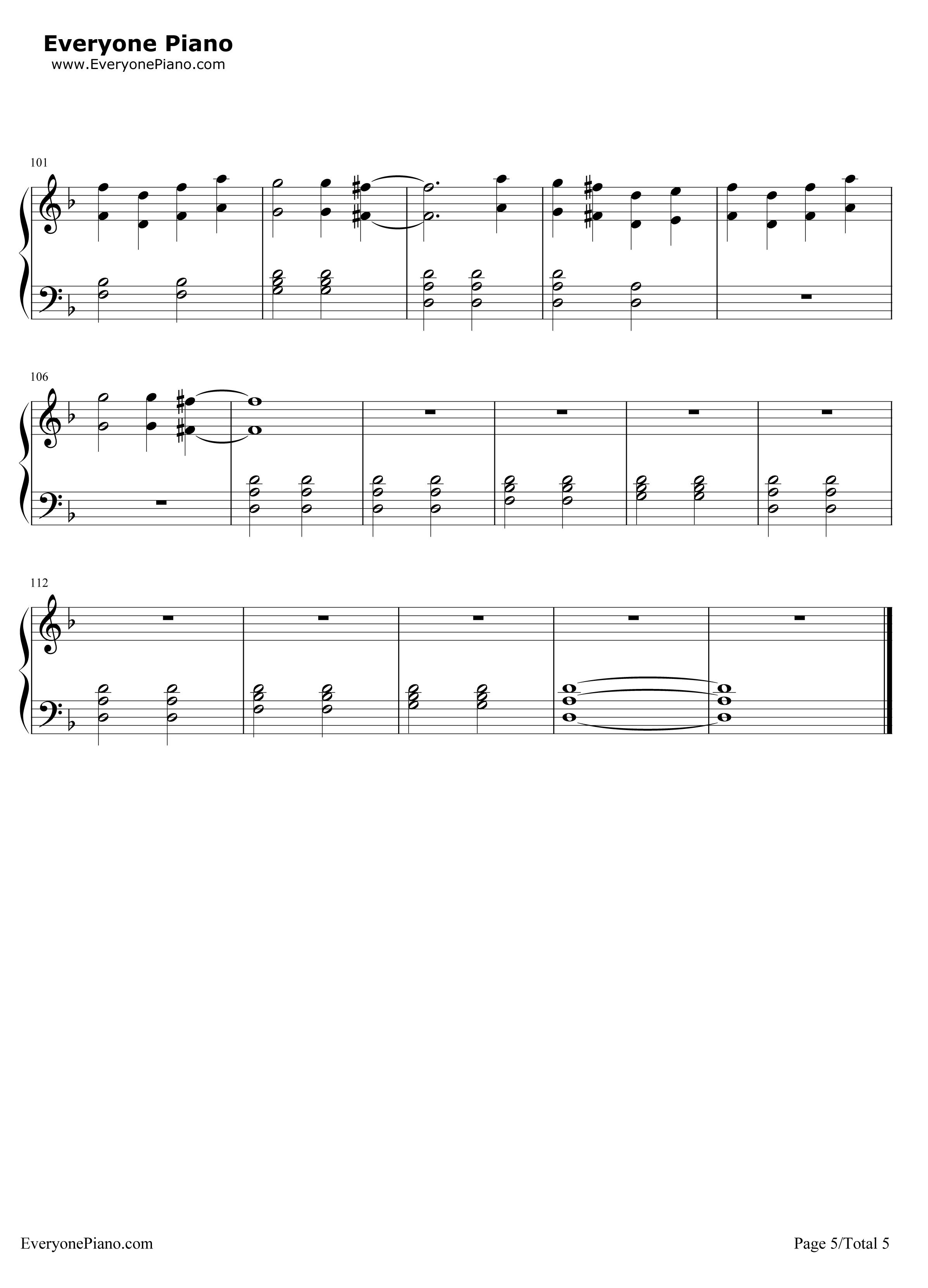 《Sledgehammer》(星际迷航3主题曲)钢琴谱第5张