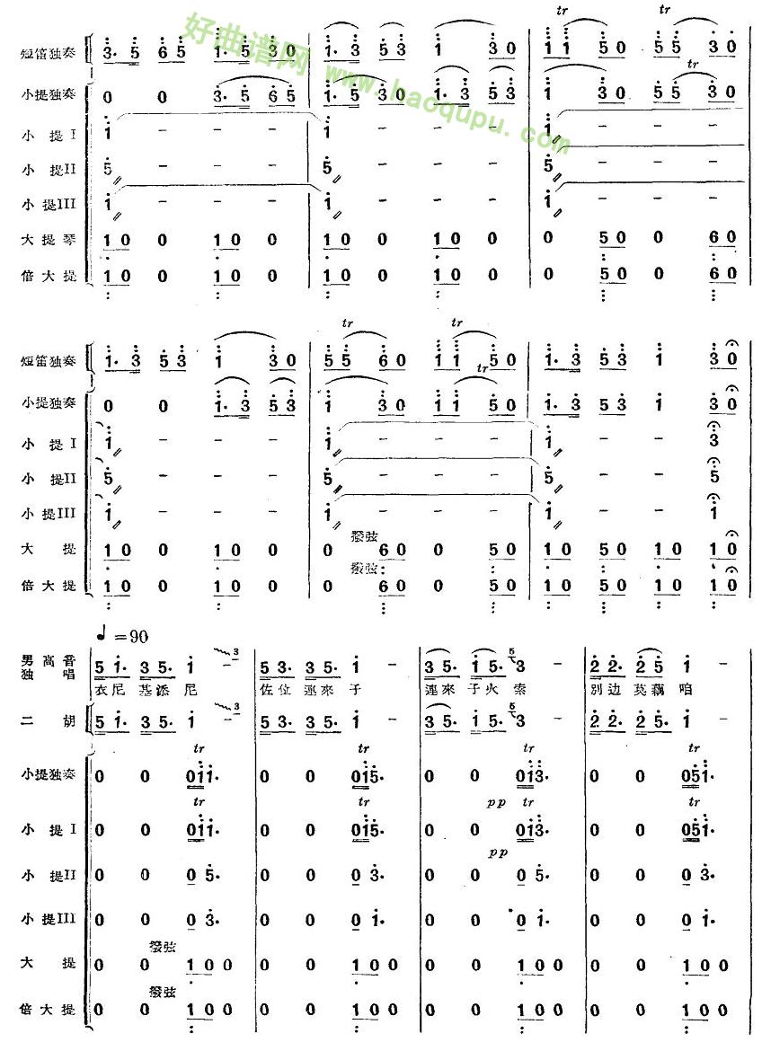 《跳月舞曲》(2) 管乐总谱第1张