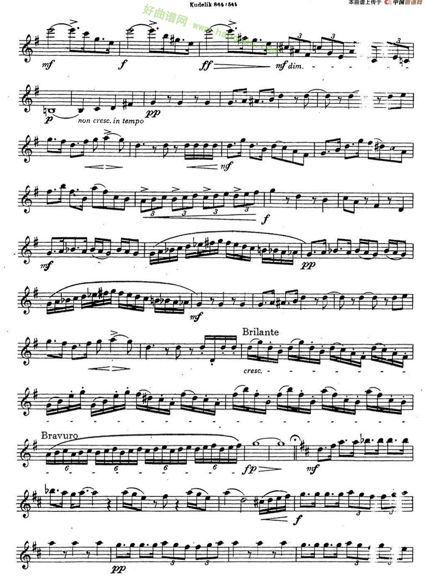 《奇特克萨克斯练习曲之12》萨克斯简谱第2张