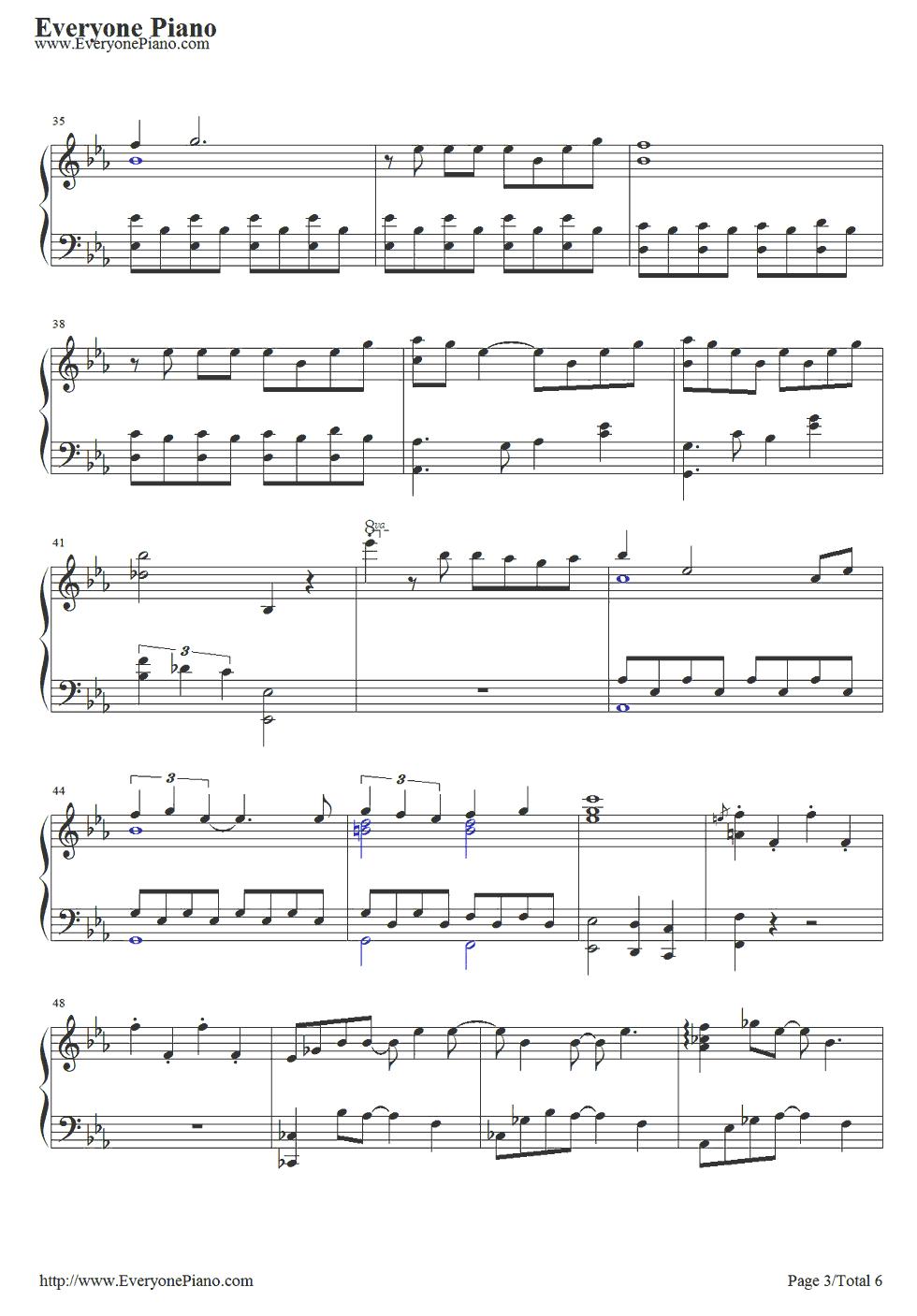 《冰雪奇缘插曲》 钢琴谱第3张