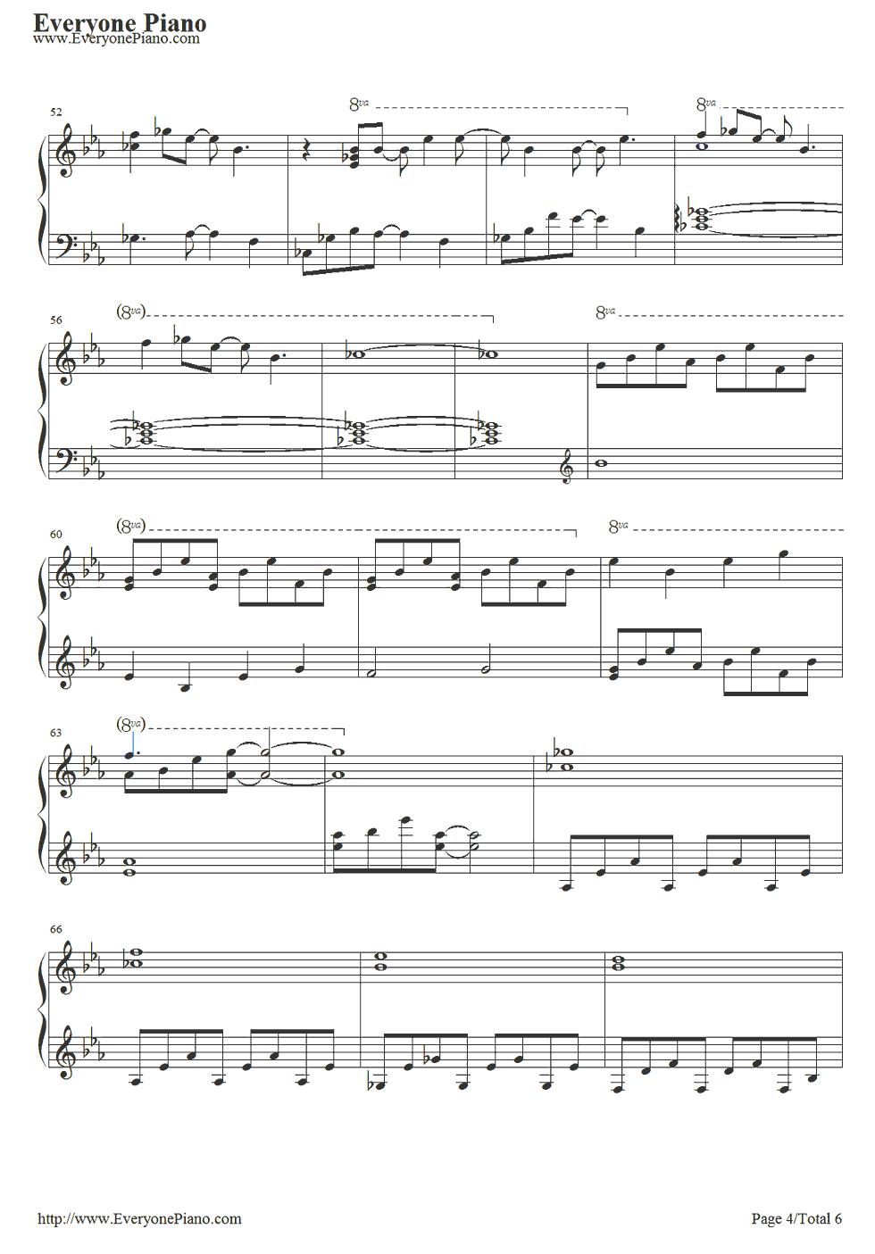 《冰雪奇缘插曲》 钢琴谱第4张