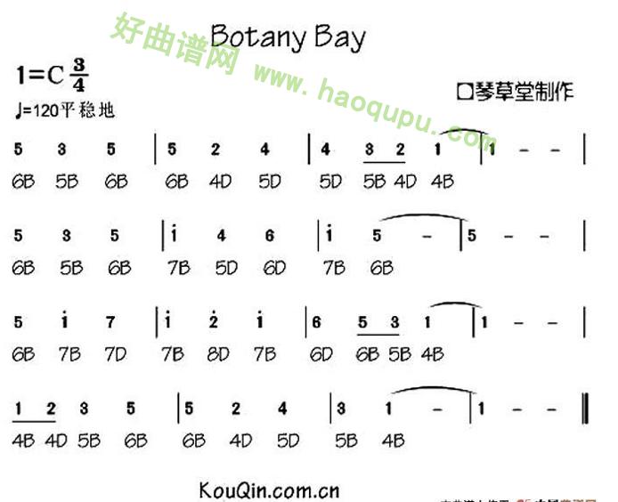 《Botany Bay》(布鲁斯口琴谱)口琴简谱第1张