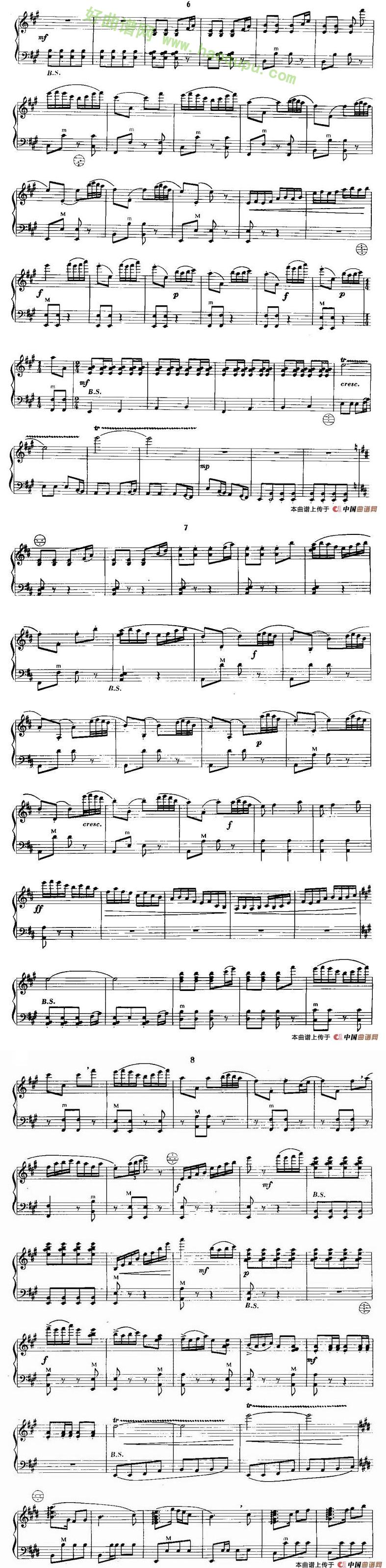 《梁山伯与祝英台》 手风琴曲谱第3张