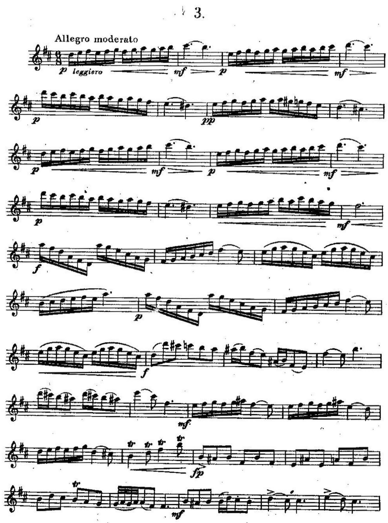 求萨克斯简谱练习曲