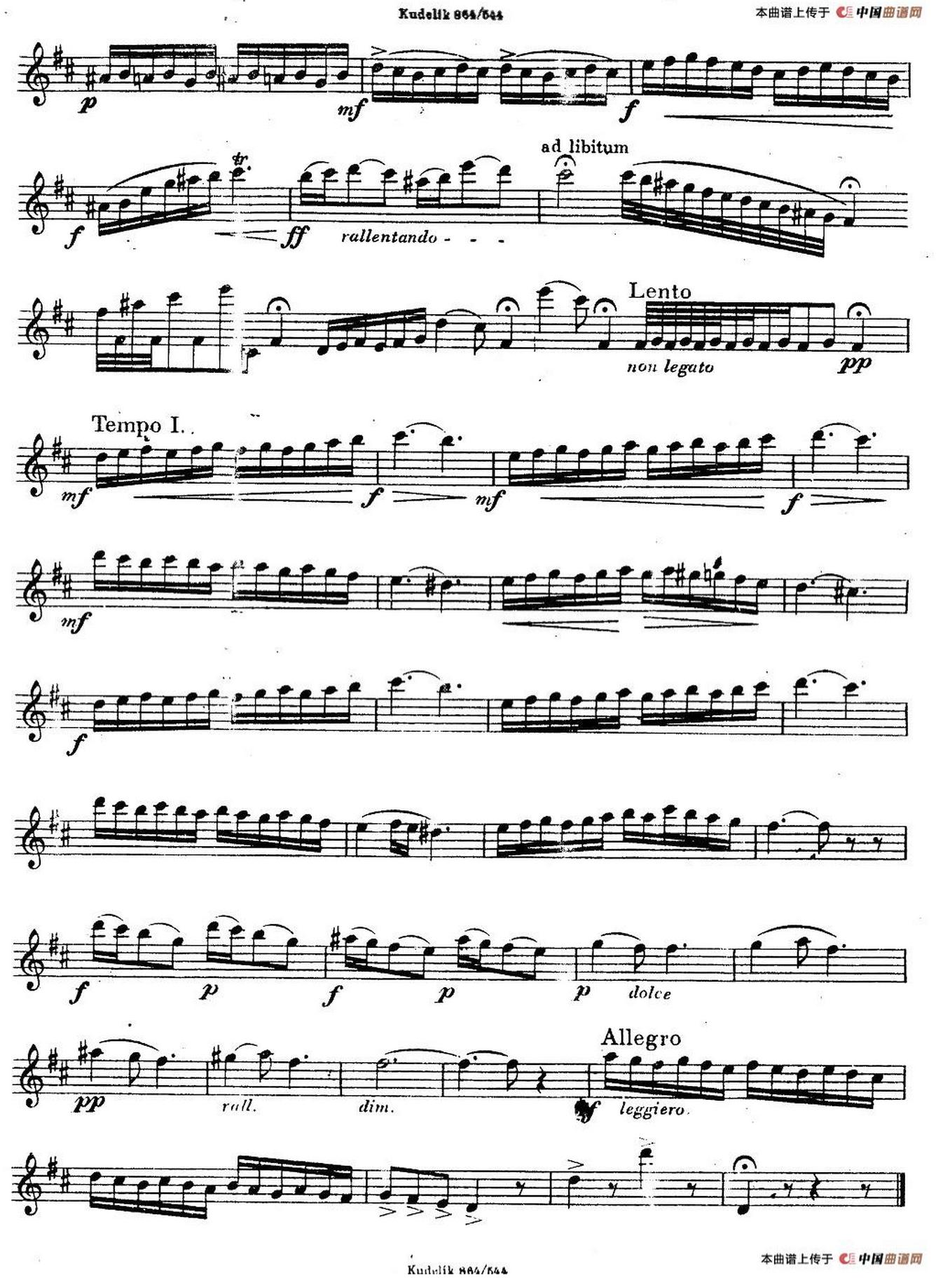 《奇特克萨克斯练习曲之三》 萨克斯简谱第2张