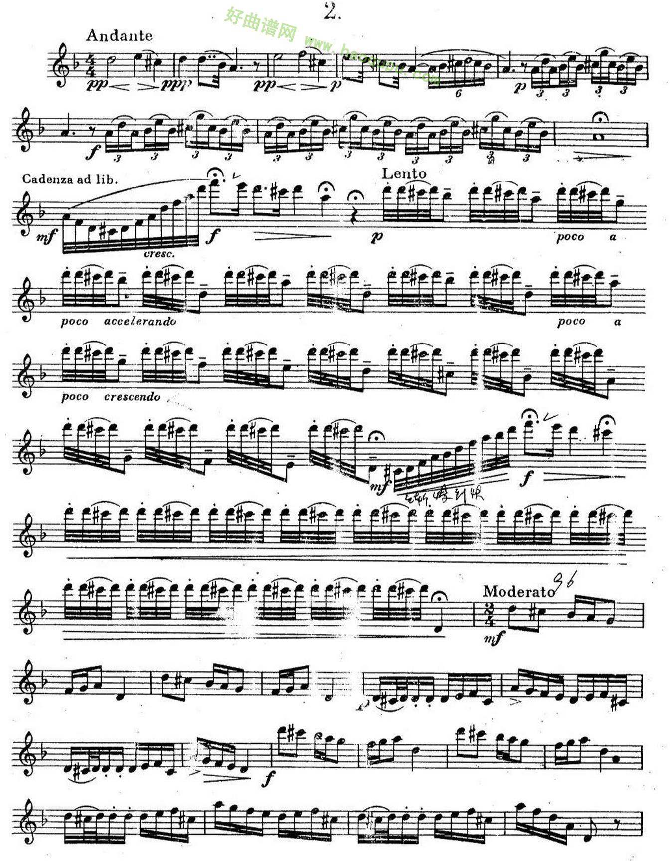 《奇特克萨克斯练习曲之二》萨克斯简谱第1张