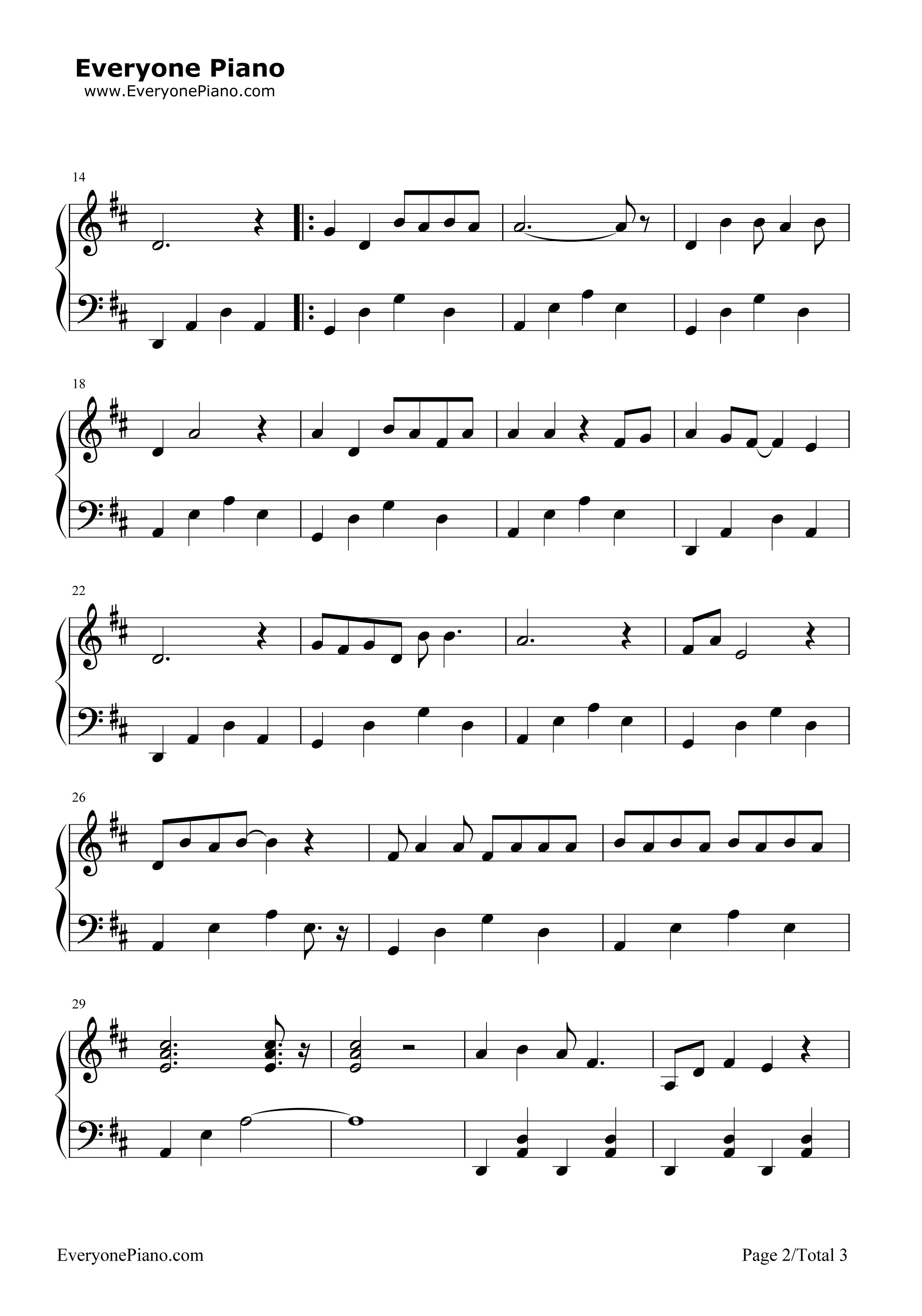 《一日成才》(新大头儿子和小头爸爸2主题曲)钢琴谱第2张