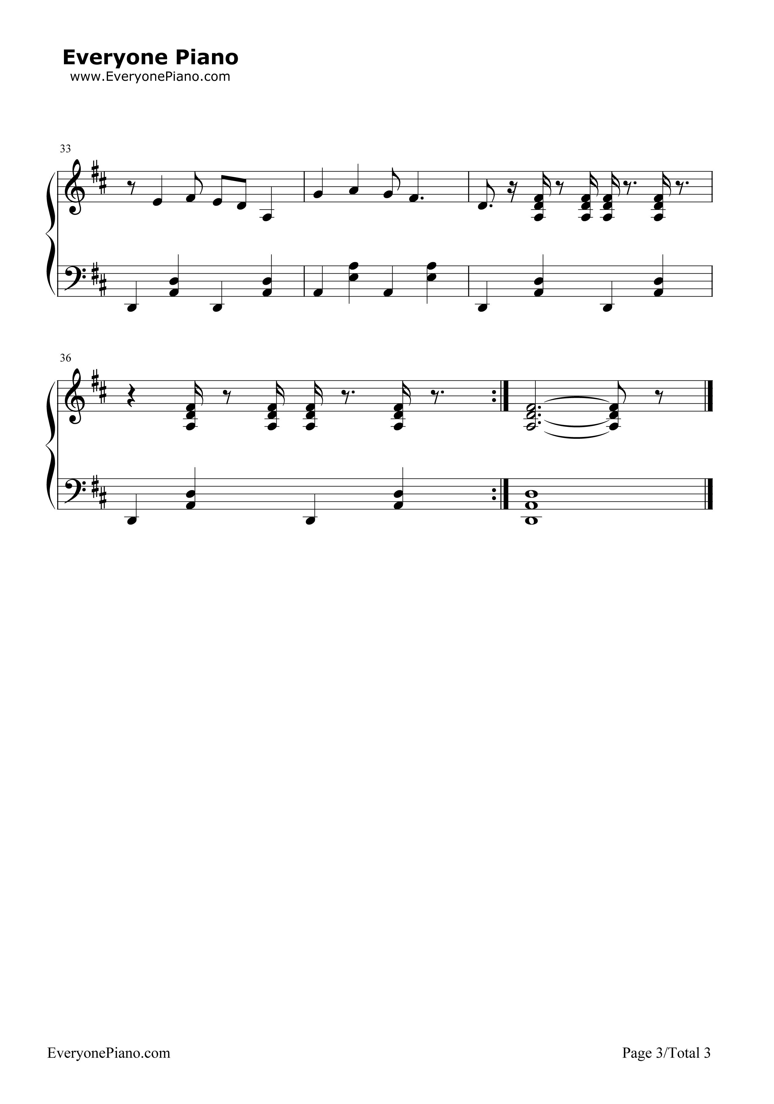 《一日成才》(新大头儿子和小头爸爸2主题曲)钢琴谱第3张