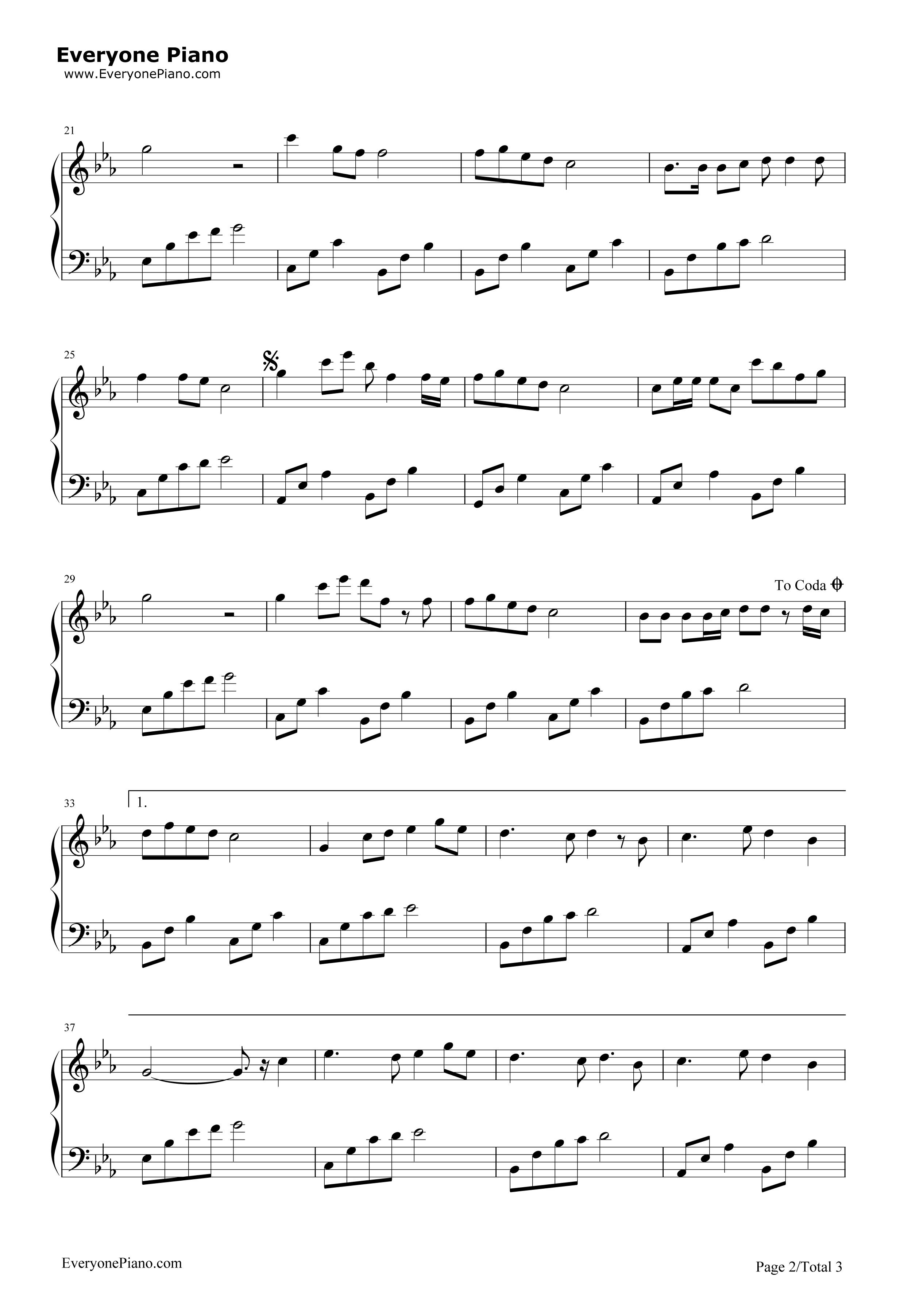 《星愿》(《妈妈让我再爱你一次》主题曲)钢琴谱第2张