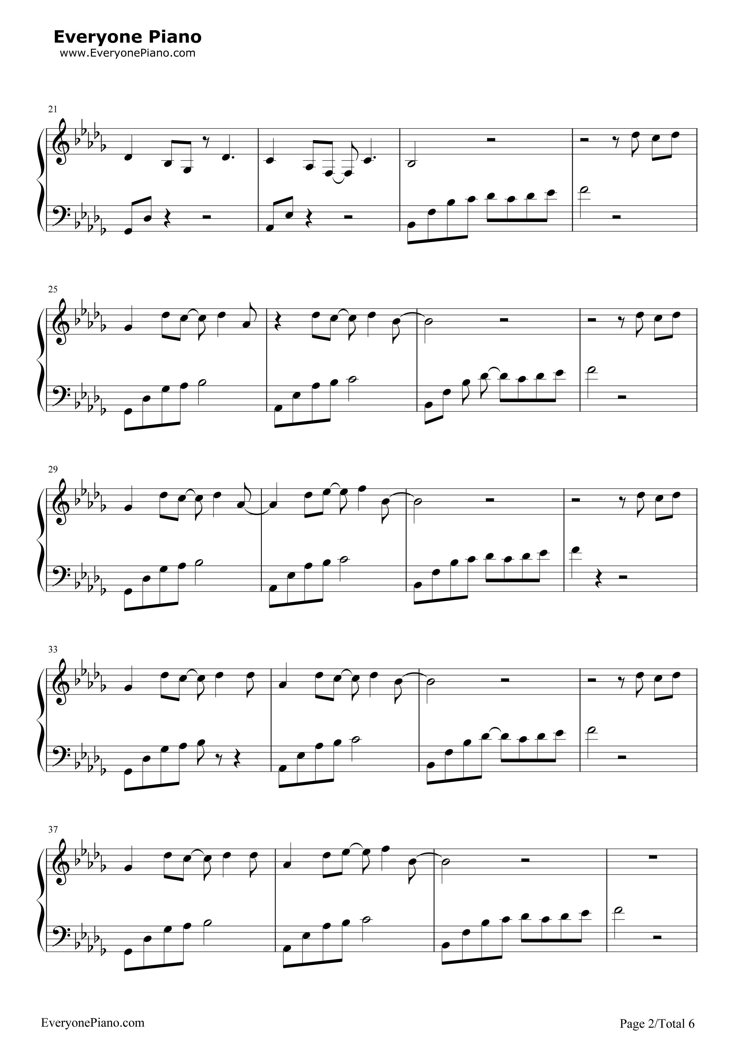 《我好像在哪见过你》(《精灵王座》主题曲)钢琴谱第2张