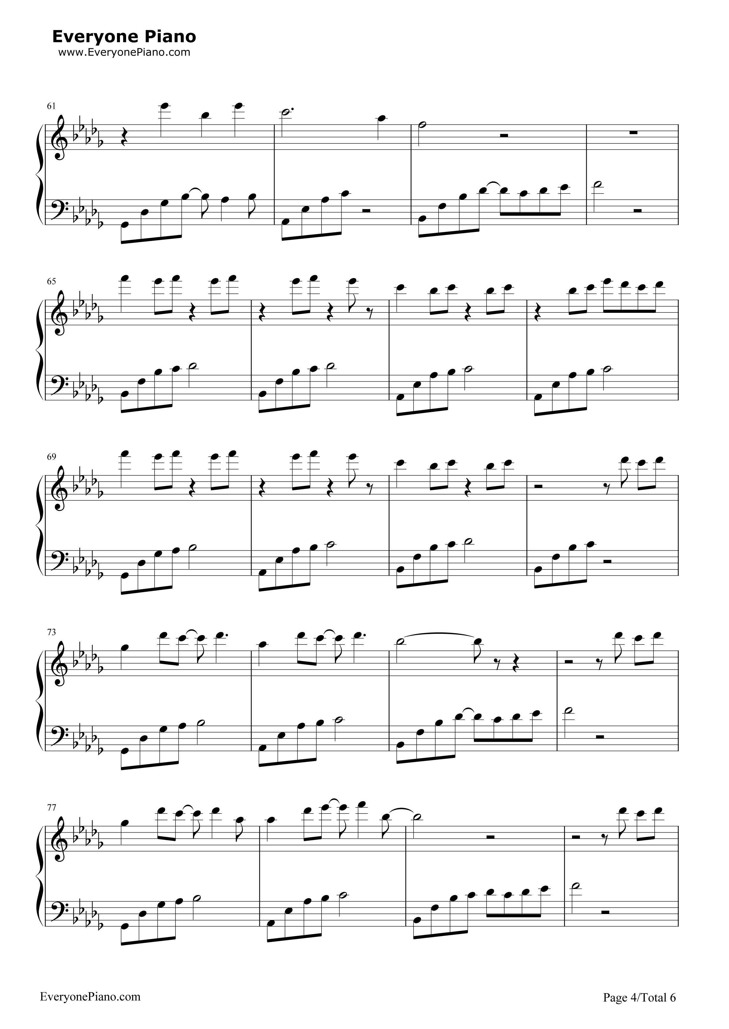 《我好像在哪见过你》(《精灵王座》主题曲)钢琴谱第4张
