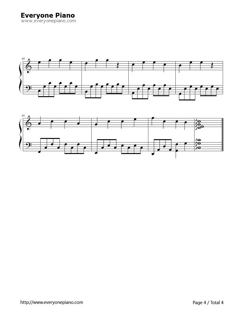 《明天你好》(牛奶咖啡演唱)钢琴谱第4张