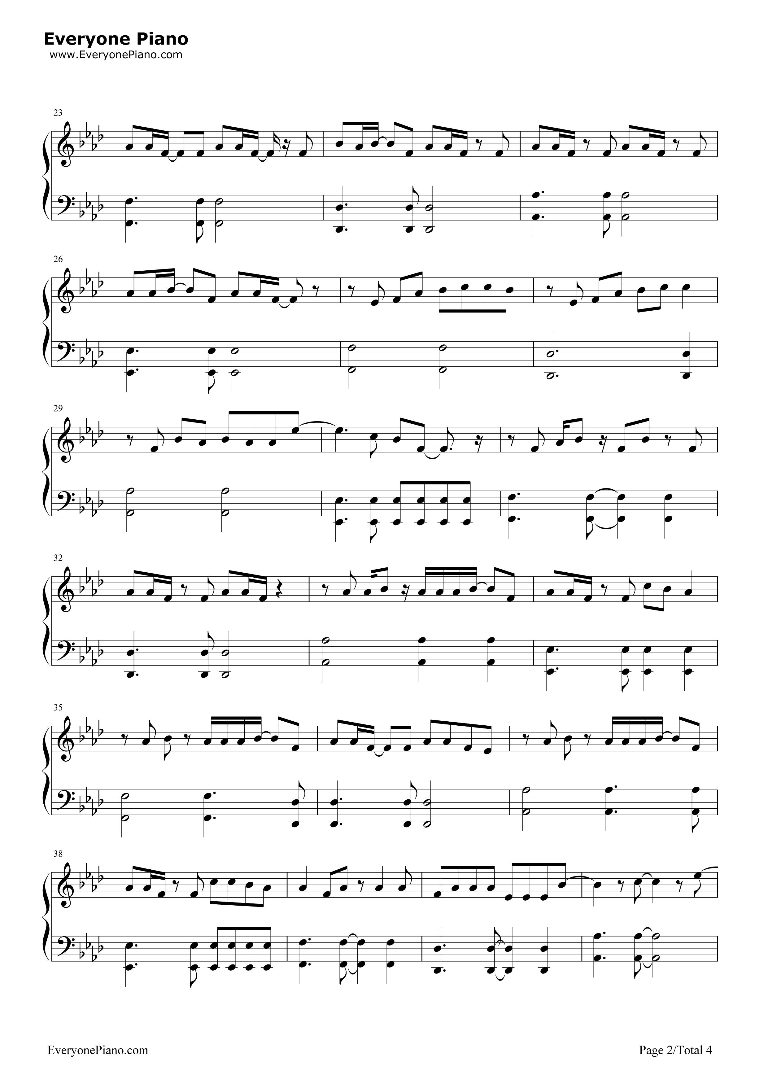 《My Superstar》(冰川时代5片尾曲)钢琴谱第2张