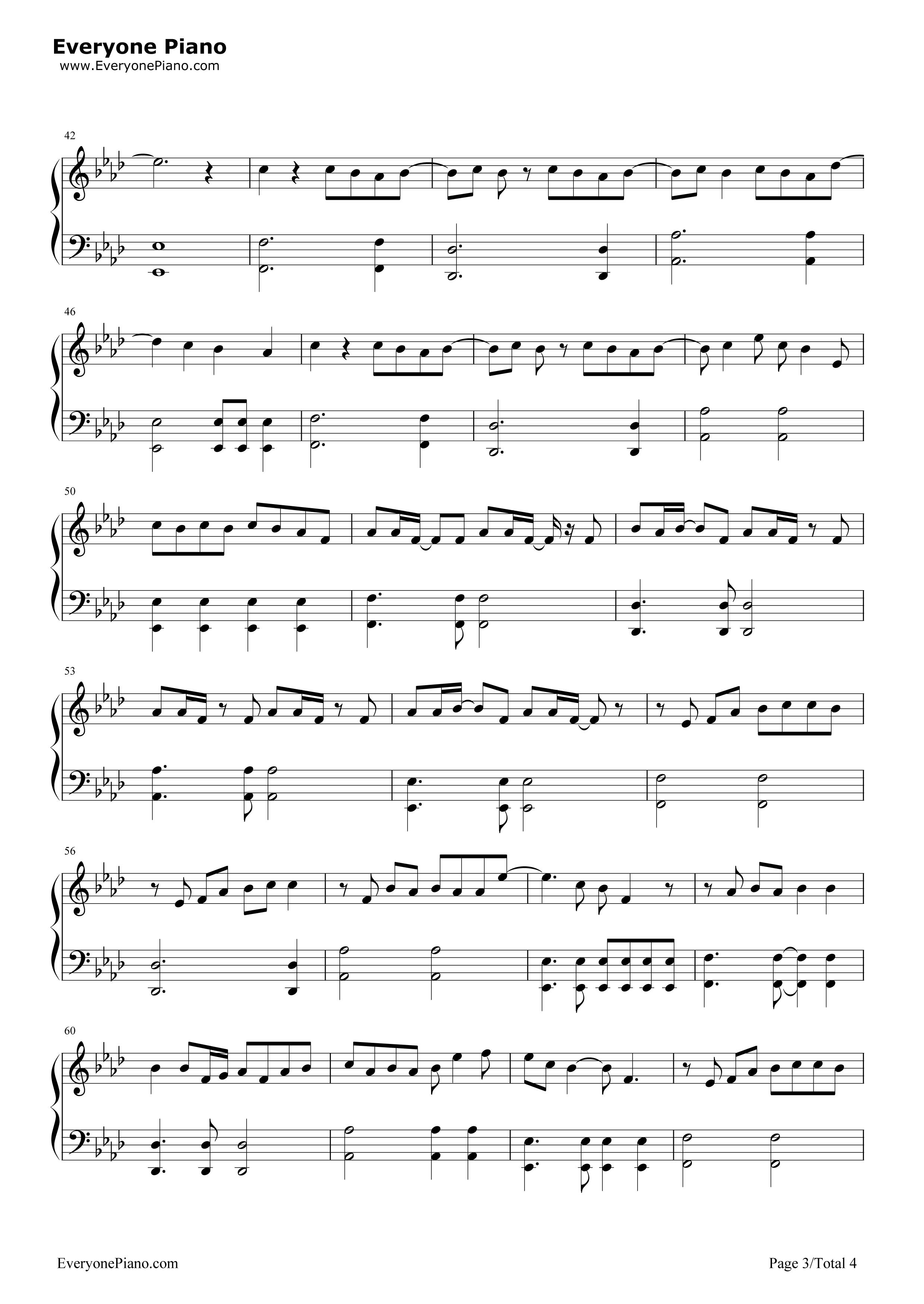 《My Superstar》(冰川时代5片尾曲)钢琴谱第3张