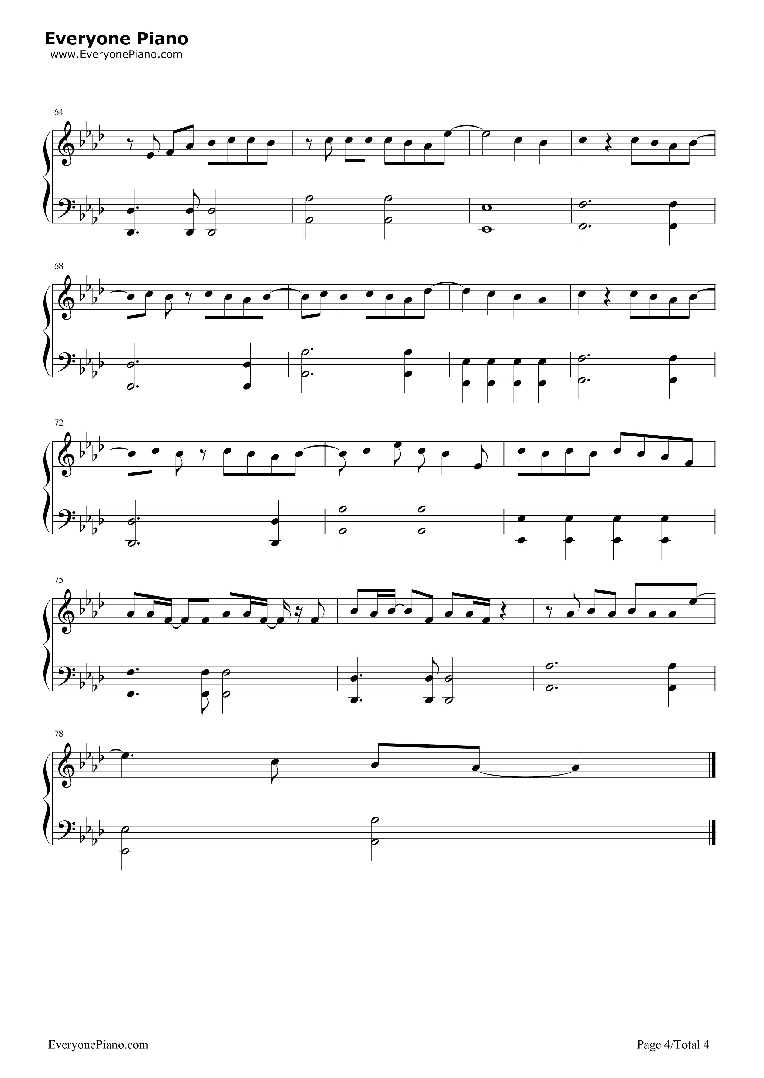 《My Superstar》(冰川时代5片尾曲)钢琴谱第4张