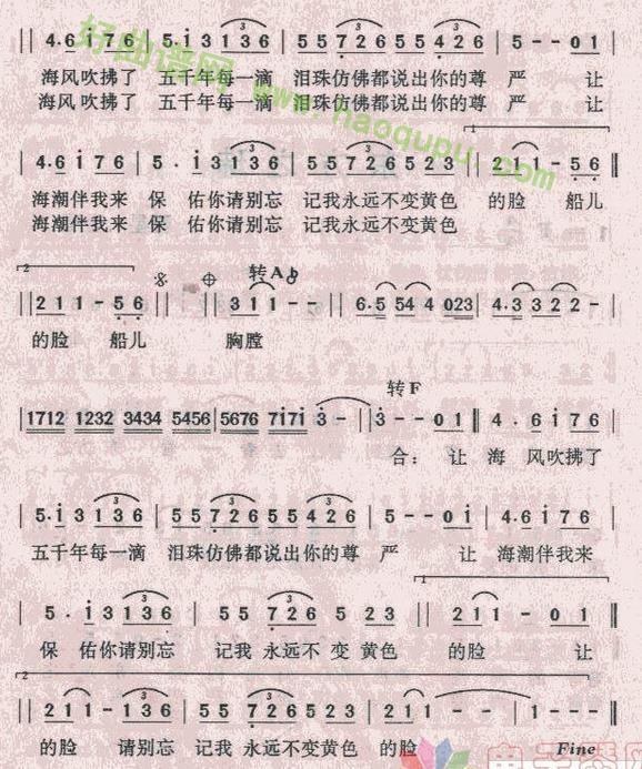 《东方之珠》 电子琴简谱第2张