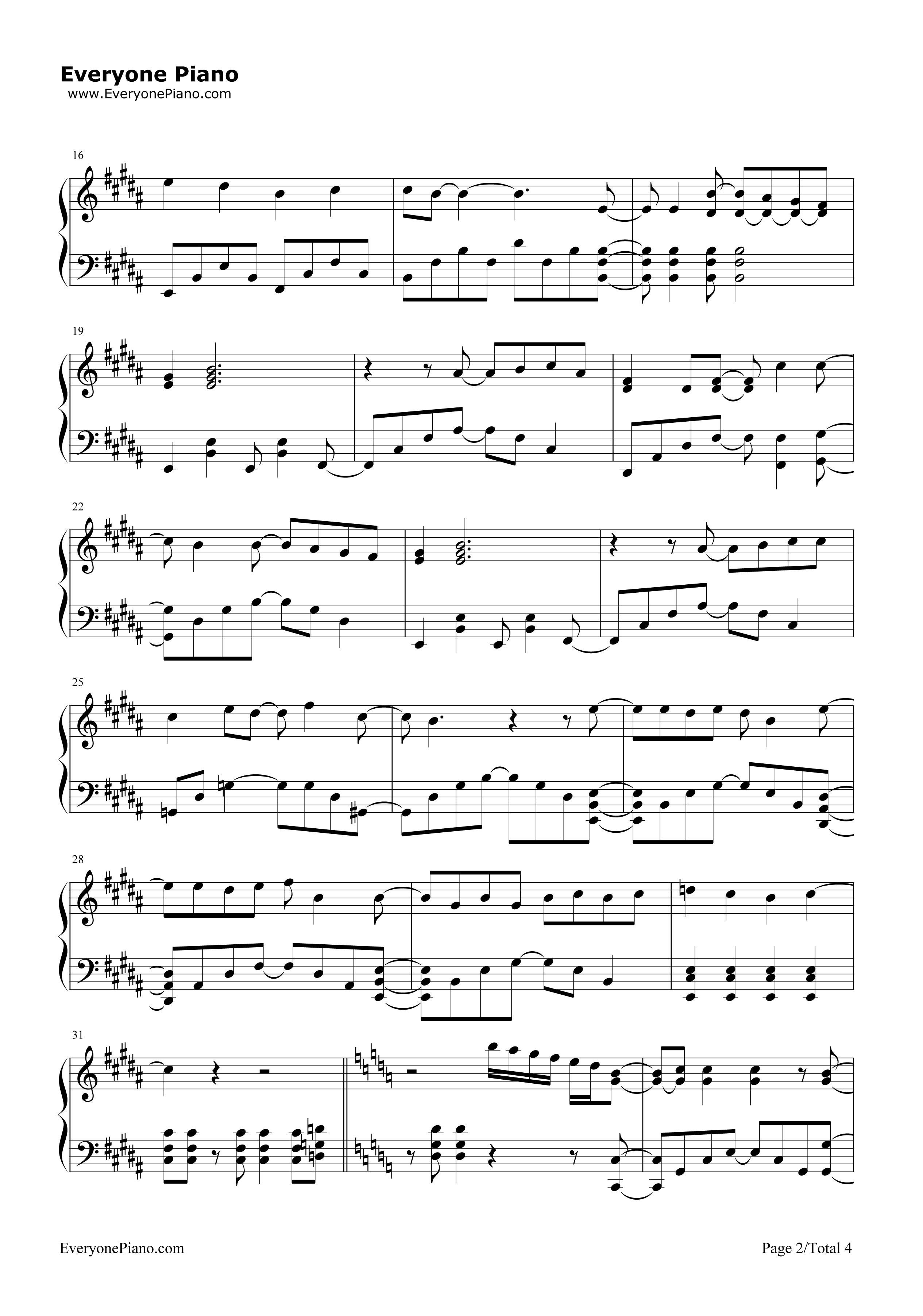 《收服一切》(精灵宝可梦XY OP3)钢琴谱第2张