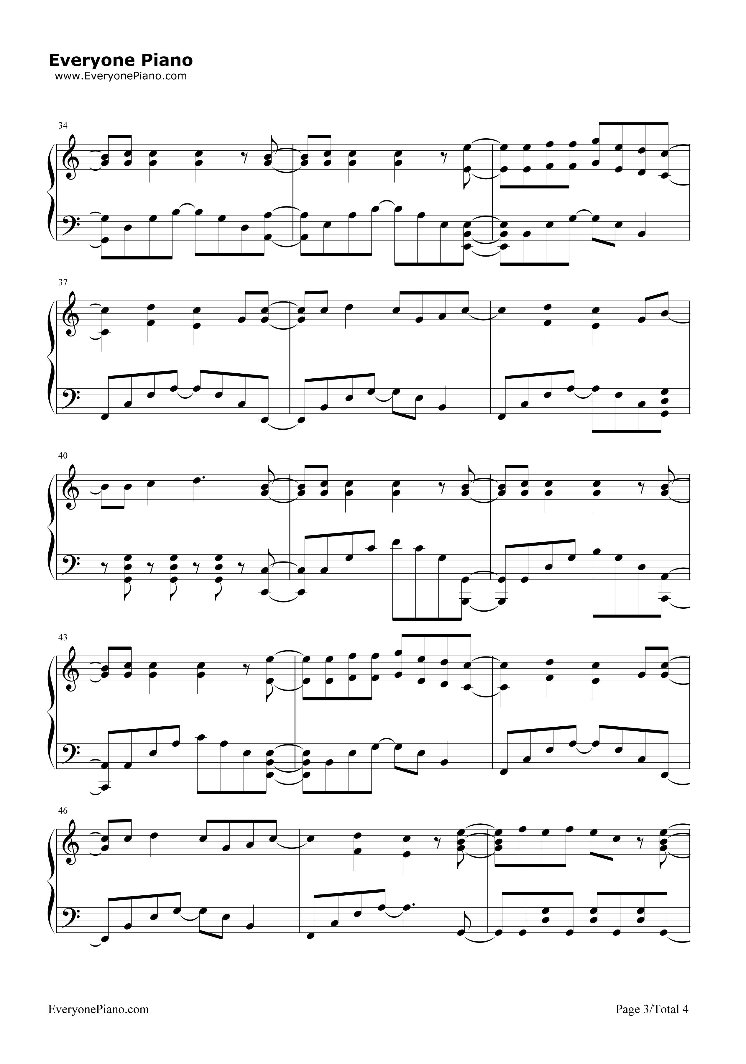 《收服一切》(精灵宝可梦XY OP3)钢琴谱第3张