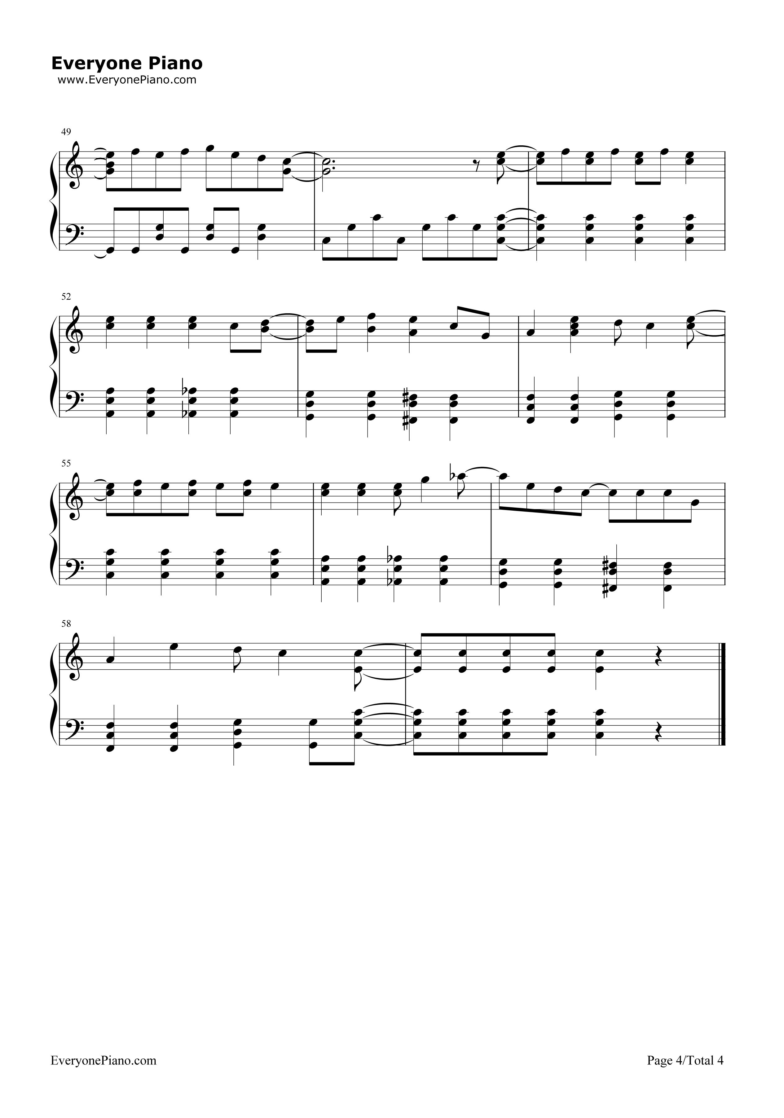 《收服一切》(精灵宝可梦XY OP3)钢琴谱第4张