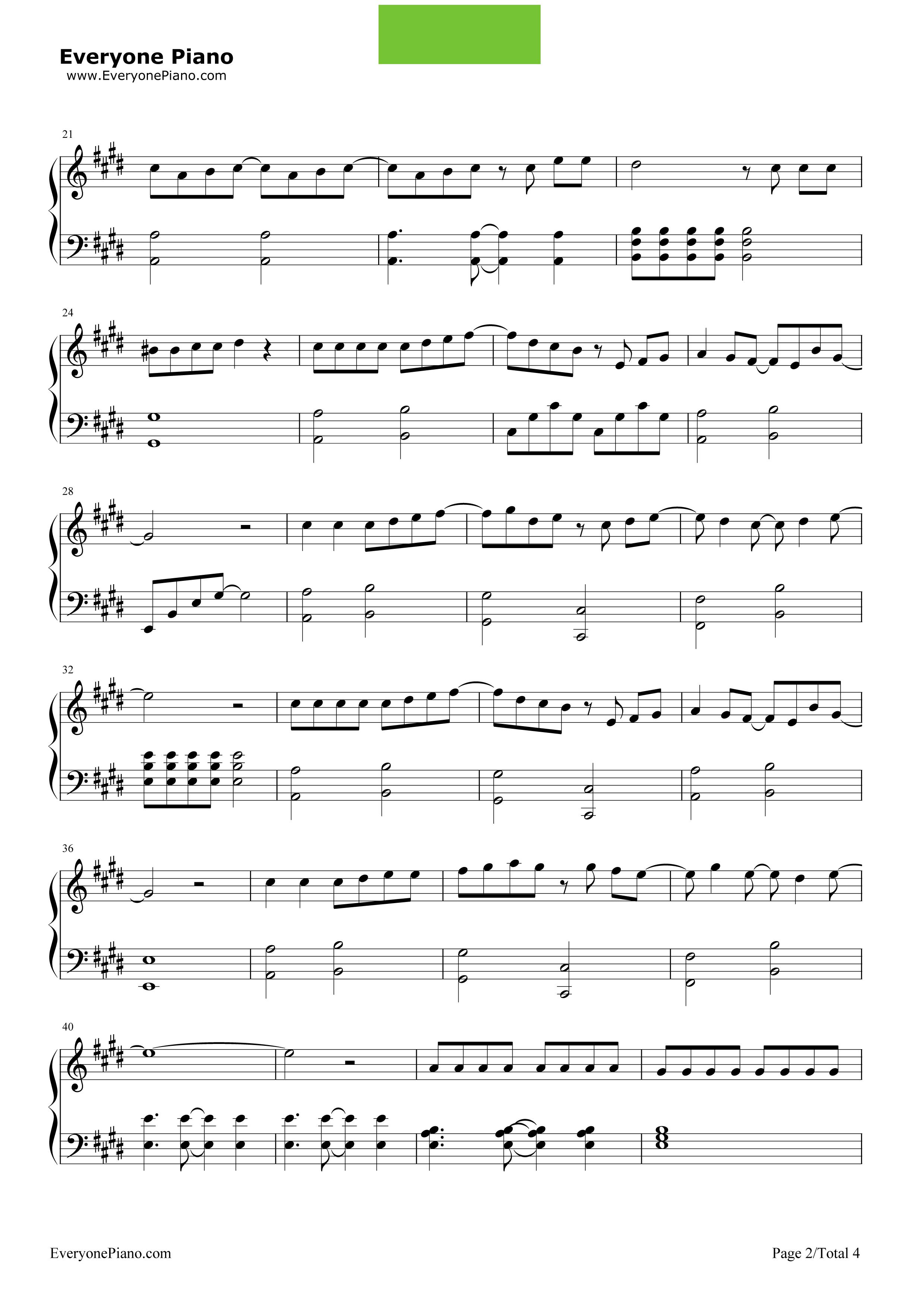 《青春不残酷》(超能力者齐木楠雄的灾难OP)钢琴谱第2张
