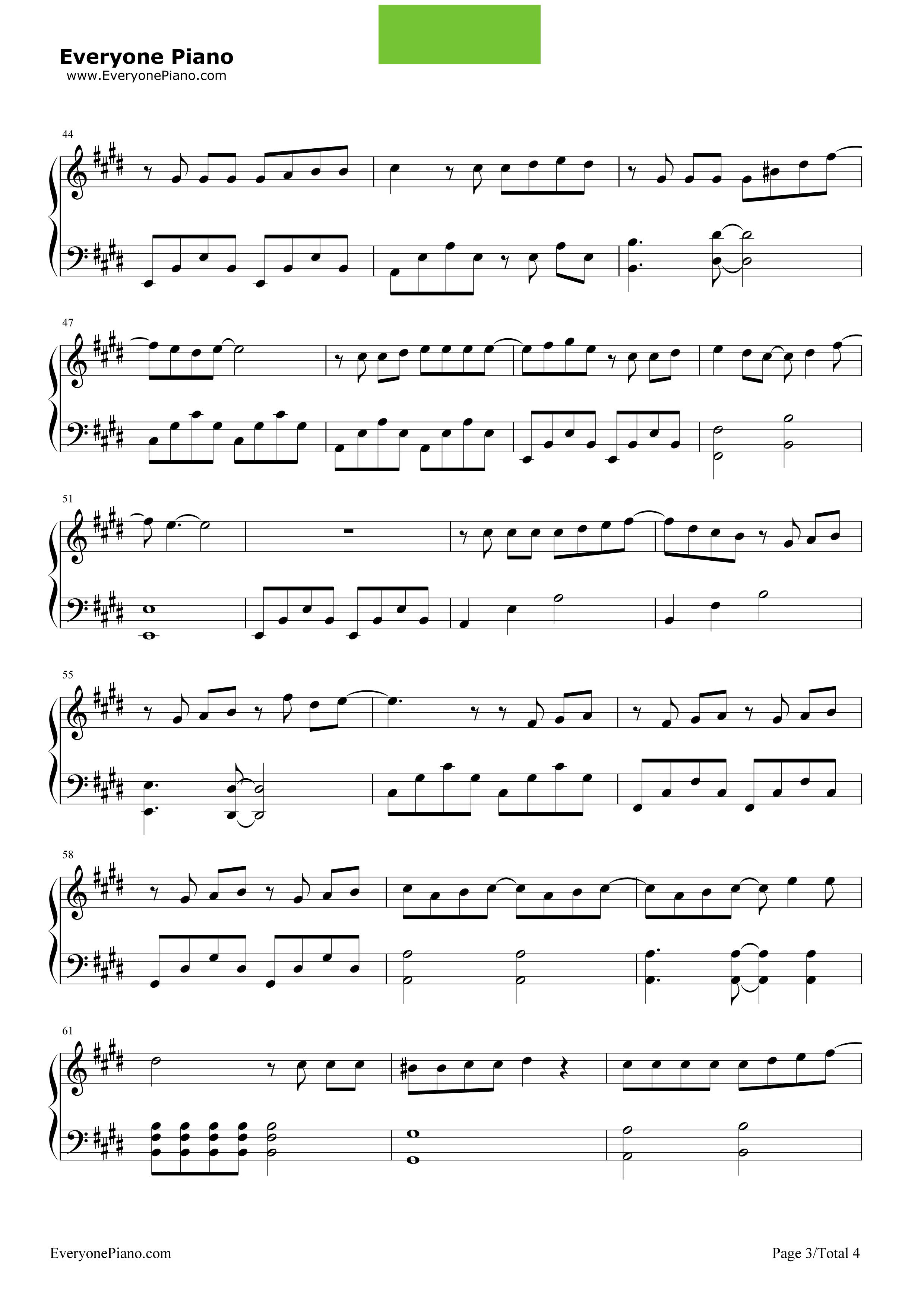 《青春不残酷》(超能力者齐木楠雄的灾难OP)钢琴谱第3张